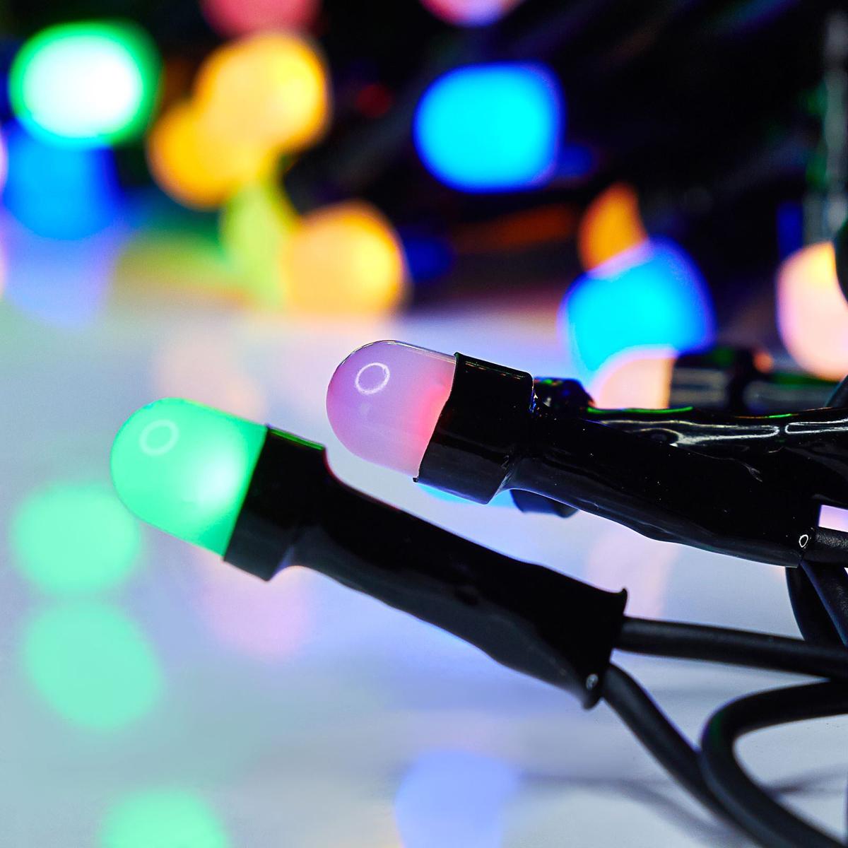 Гирлянда Luazon Метраж, длина 20 м, LED 200 ламп, 220V, цвет: мультиколор. 10805701080570Светодиодные гирлянды, ленты и т.д — это отличный вариант для новогоднего оформления интерьера или фасада. С их помощью помещение любого размера можно превратить в праздничный зал, а внешние элементы зданий, украшенные ими, мгновенно станут напоминать очертания сказочного дворца. Такие украшения создают ауру предвкушения чуда. Деревья, фасады, витрины, окна и арки будто специально созданы, чтобы вы украсили их светящимися нитями.