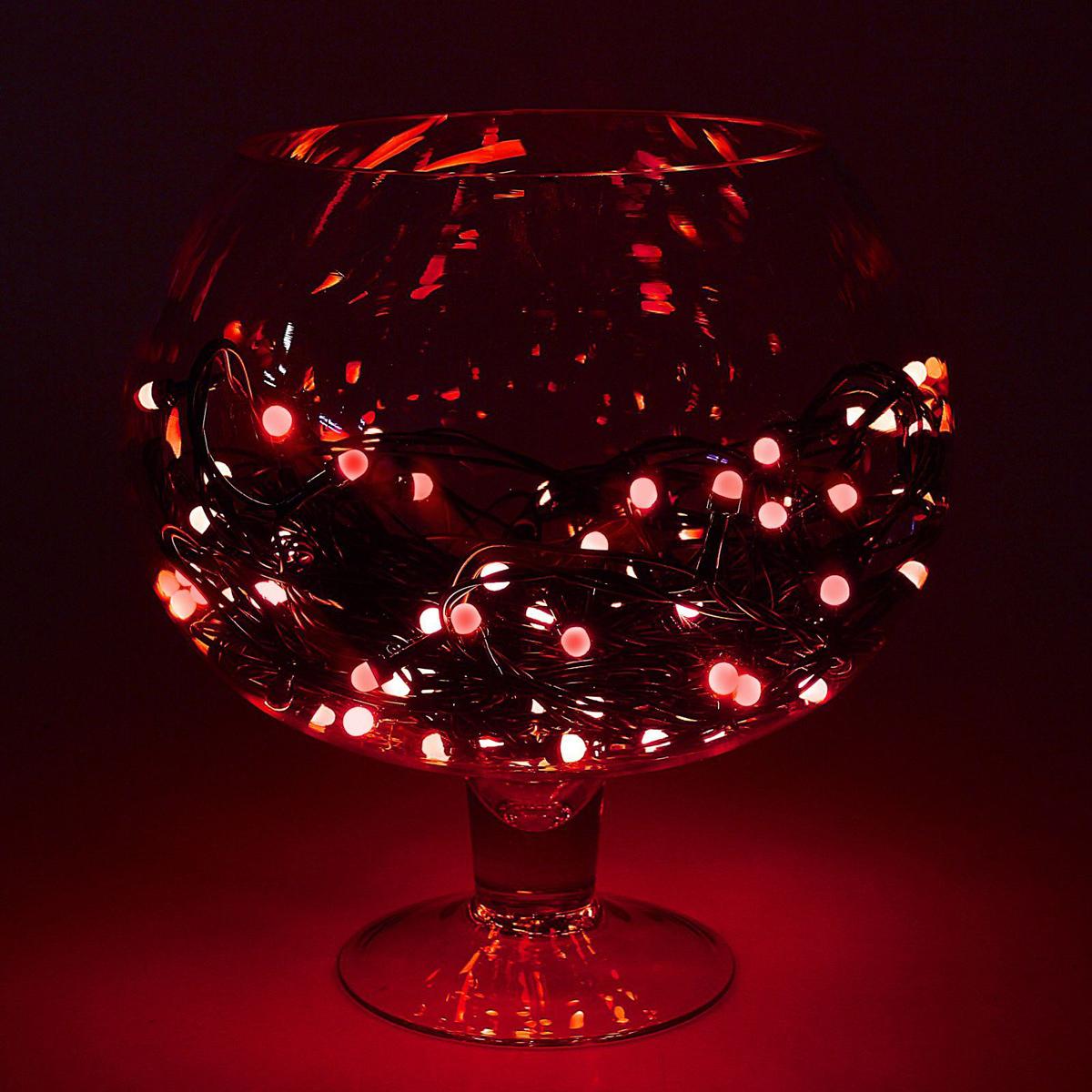 Гирлянда Luazon Метраж, длина 20 м, LED 200 ламп, 220V, цвет: красный гирлянда luazon метраж цветы 5m led 20 220v 185506