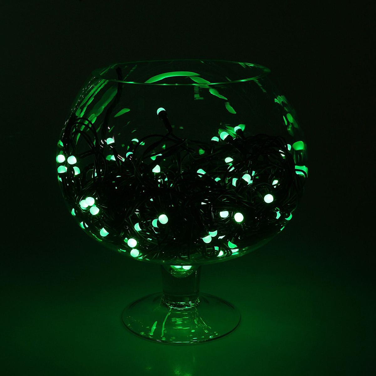 Гирлянда Luazon Метраж, длина 20 м, LED 200 ламп, 220V, цвет: зеленый гирлянда luazon метраж цветы 5m led 20 220v 185506