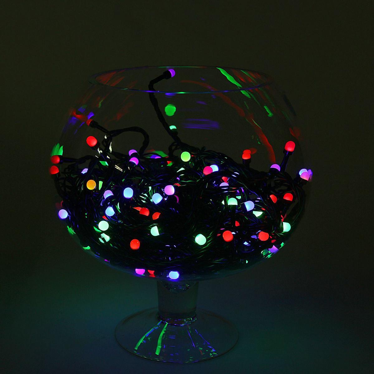 Гирлянда Luazon Метраж, длина 20 м, LED 200 ламп, 220V, цвет: мультиколор1080577Светодиодные гирлянды, ленты и т.д — это отличный вариант для новогоднего оформления интерьера или фасада. С их помощью помещение любого размера можно превратить в праздничный зал, а внешние элементы зданий, украшенные ими, мгновенно станут напоминать очертания сказочного дворца. Такие украшения создают ауру предвкушения чуда. Деревья, фасады, витрины, окна и арки будто специально созданы, чтобы вы украсили их светящимися нитями.
