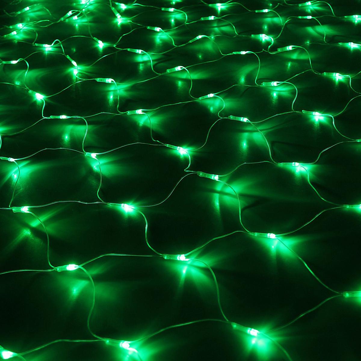 Гирлянда Luazon Сетка, длина 1,6 м, LED 144 ламп, 220V, цвет: зеленый1585749Светодиодные гирлянды, ленты и т.д — это отличный вариант для новогоднего оформления интерьера или фасада. С их помощью помещение любого размера можно превратить в праздничный зал, а внешние элементы зданий, украшенные ими, мгновенно станут напоминать очертания сказочного дворца. Такие украшения создают ауру предвкушения чуда. Деревья, фасады, витрины, окна и арки будто специально созданы, чтобы вы украсили их светящимися нитями.