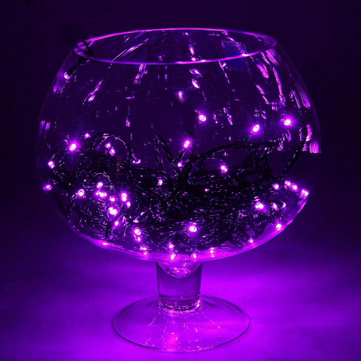 Гирлянда Luazon Метраж, длина 10 м, LED 100 ламп, 24В, цвет: фиолетовый. 1672036 гирлянда luazon спайдер led 600 24в 20m multicolor 1586037