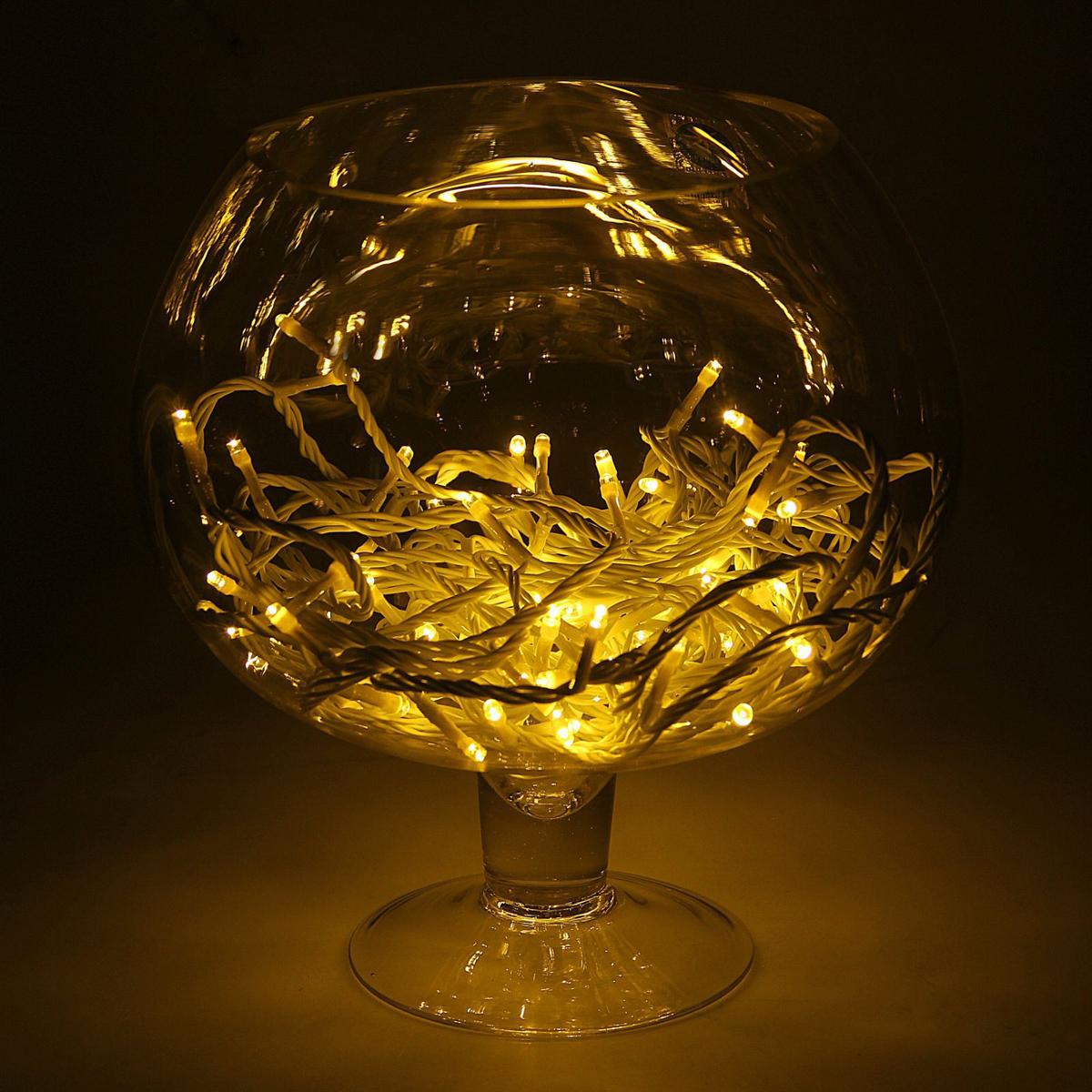 Гирлянда Luazon Метраж, длина 10 м, LED 100 ламп, 24В, цвет: желтый. 1672043 гирлянда luazon дождь 2m 6m multicolor 671678