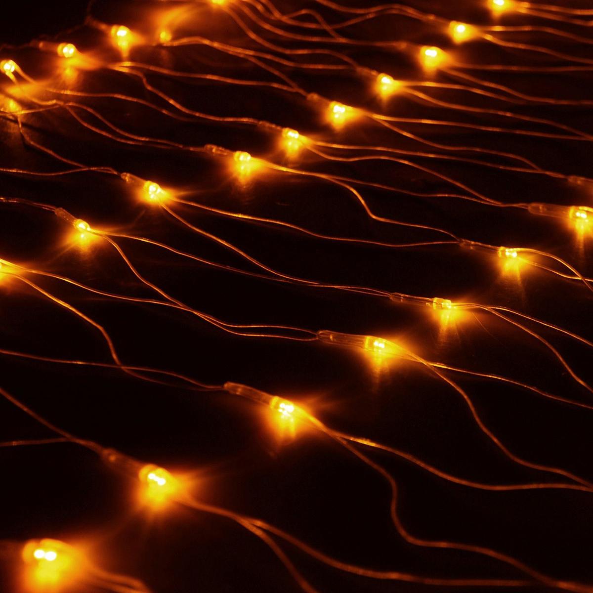 Гирлянда Luazon Сетка, длина 0,7 м, LED 96 ламп, 220V, цвет: желтый. 187195 гирлянда luazon сетка 1x0 7m led 96 220v 1080485