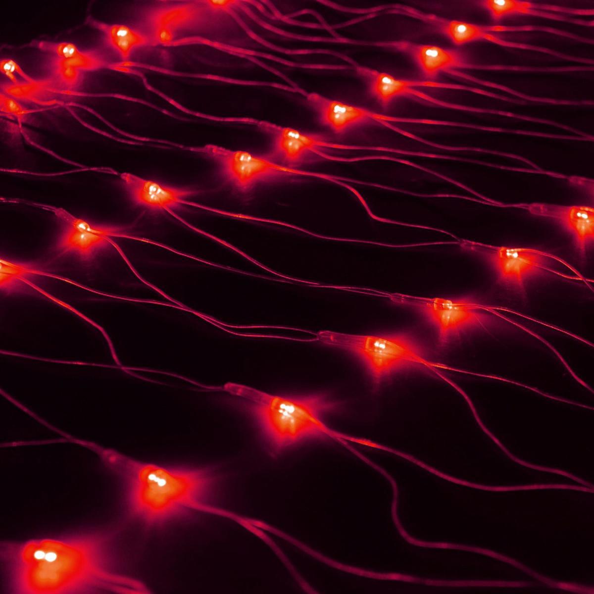Гирлянда Luazon Сетка, длина 0,7 м, LED 96 ламп, 220V, цвет: красный. 187196187196Светодиодные гирлянды, ленты и т.д — это отличный вариант для новогоднего оформления интерьера или фасада. С их помощью помещение любого размера можно превратить в праздничный зал, а внешние элементы зданий, украшенные ими, мгновенно станут напоминать очертания сказочного дворца. Такие украшения создают ауру предвкушения чуда. Деревья, фасады, витрины, окна и арки будто специально созданы, чтобы вы украсили их светящимися нитями.
