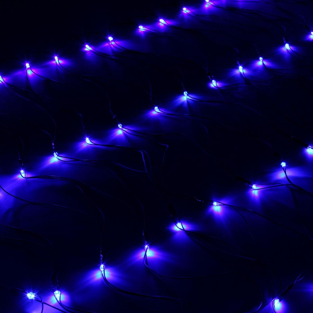 Гирлянда Luazon Сетка, длина 0,7 м, LED 96 ламп, 220V, цвет: синий. 187199187199Светодиодные гирлянды, ленты и т.д — это отличный вариант для новогоднего оформления интерьера или фасада. С их помощью помещение любого размера можно превратить в праздничный зал, а внешние элементы зданий, украшенные ими, мгновенно станут напоминать очертания сказочного дворца. Такие украшения создают ауру предвкушения чуда. Деревья, фасады, витрины, окна и арки будто специально созданы, чтобы вы украсили их светящимися нитями.