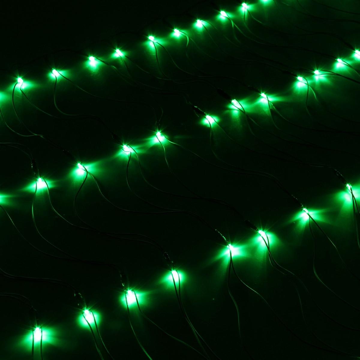 Гирлянда Luazon Сетка, длина 0,7 м, LED 96 ламп, 220V, цвет: зеленый. 187200187200Светодиодные гирлянды, ленты и т.д — это отличный вариант для новогоднего оформления интерьера или фасада. С их помощью помещение любого размера можно превратить в праздничный зал, а внешние элементы зданий, украшенные ими, мгновенно станут напоминать очертания сказочного дворца. Такие украшения создают ауру предвкушения чуда. Деревья, фасады, витрины, окна и арки будто специально созданы, чтобы вы украсили их светящимися нитями.