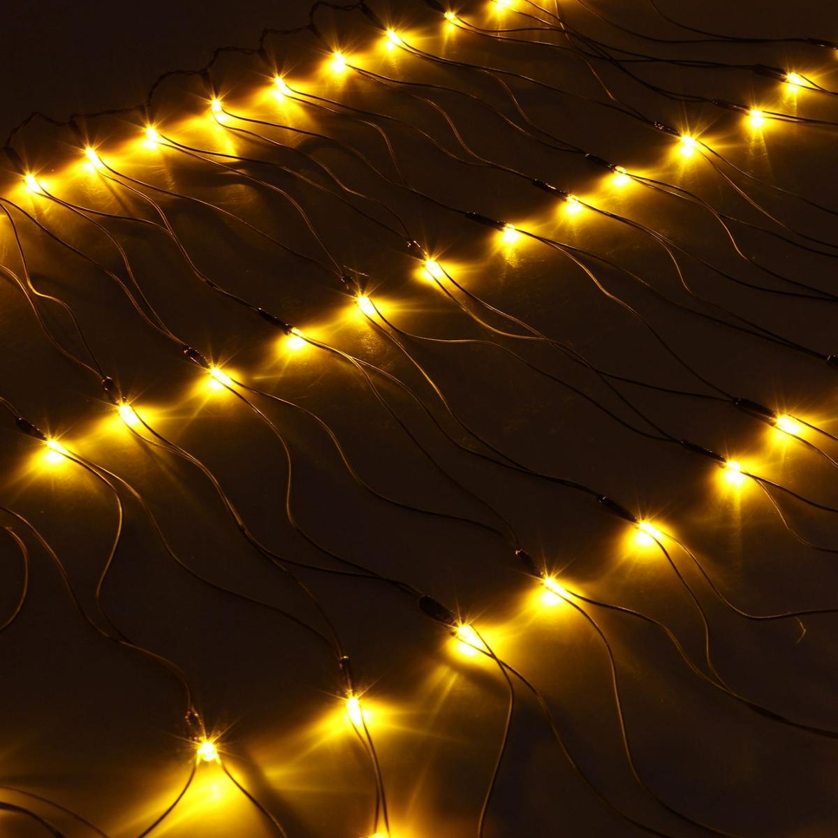 Гирлянда Luazon Сетка, длина 0,7 м, LED 96 ламп, 220V, цвет: желтый. 187201 гирлянда luazon сетка 1x0 7m led 96 220v 1080485