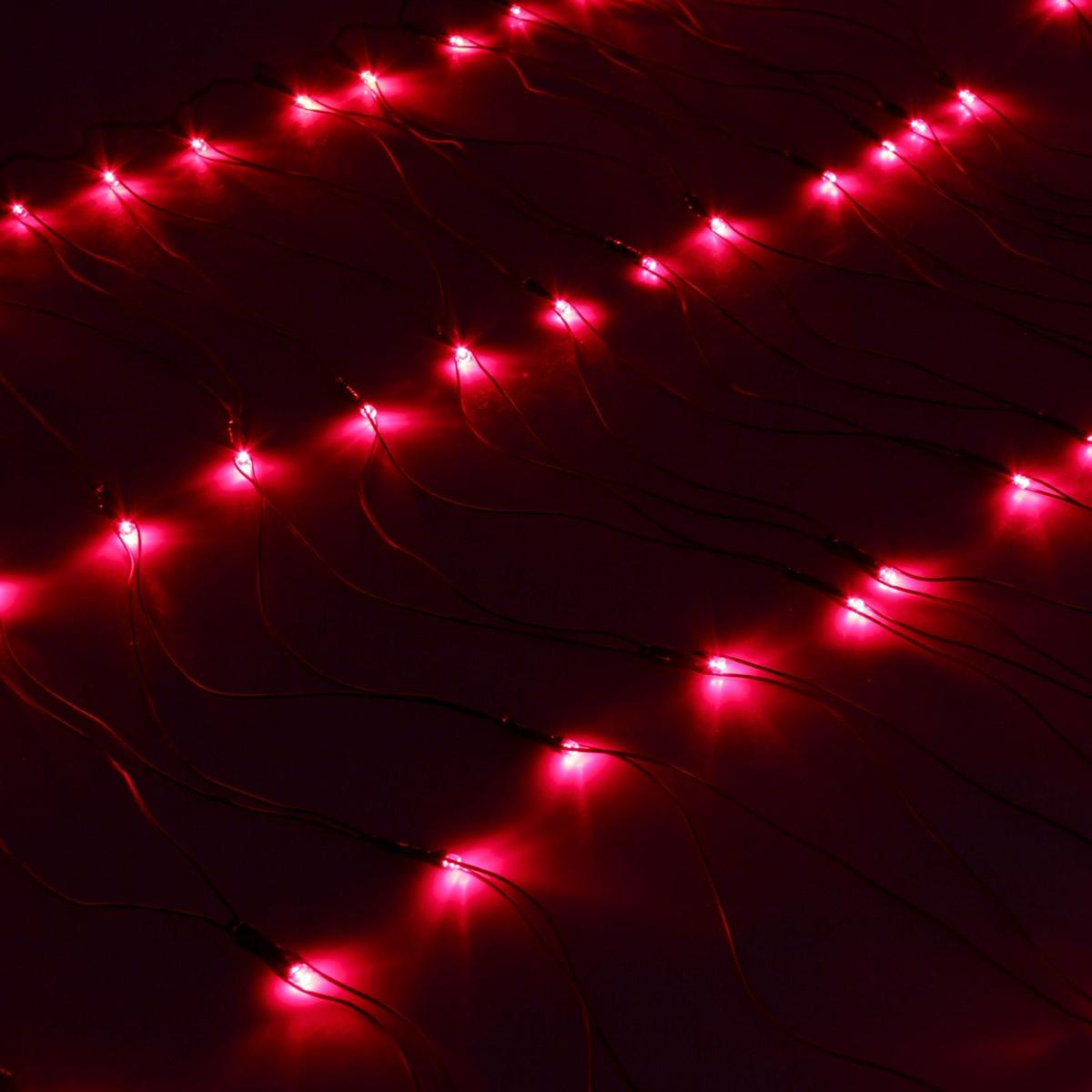 Гирлянда Luazon Сетка, длина 0,7 м, LED 96 ламп, 220V, цвет: красный. 187202187202Светодиодные гирлянды, ленты и т.д — это отличный вариант для новогоднего оформления интерьера или фасада. С их помощью помещение любого размера можно превратить в праздничный зал, а внешние элементы зданий, украшенные ими, мгновенно станут напоминать очертания сказочного дворца. Такие украшения создают ауру предвкушения чуда. Деревья, фасады, витрины, окна и арки будто специально созданы, чтобы вы украсили их светящимися нитями.