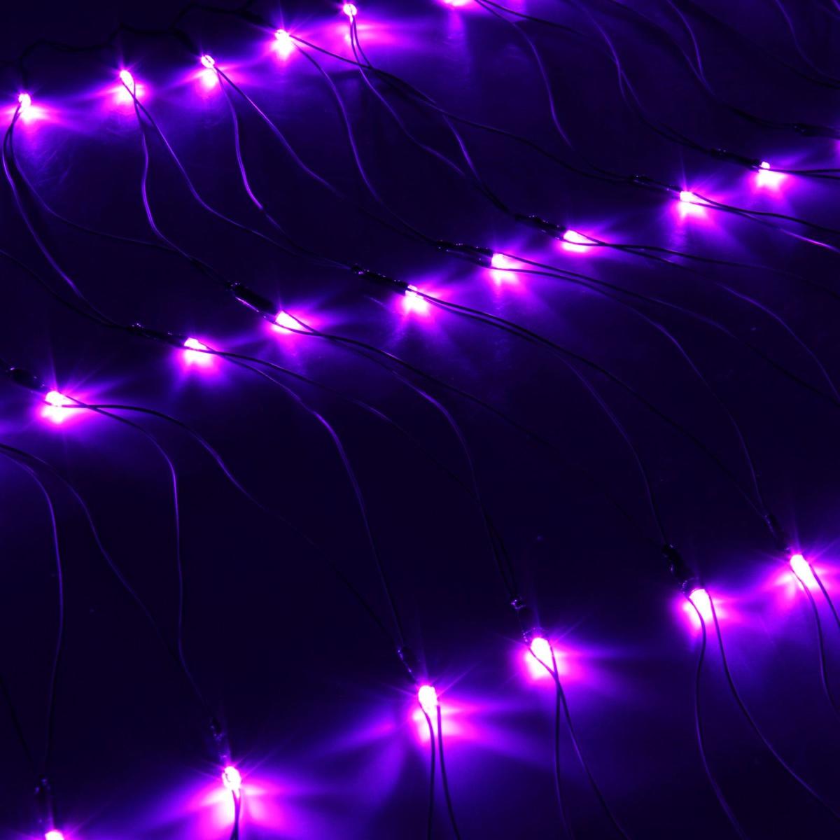 Гирлянда Luazon Сетка, длина 0,7 м, LED 96 ламп, 220V, цвет: фиолетовый. 187203187203Светодиодные гирлянды, ленты и т.д — это отличный вариант для новогоднего оформления интерьера или фасада. С их помощью помещение любого размера можно превратить в праздничный зал, а внешние элементы зданий, украшенные ими, мгновенно станут напоминать очертания сказочного дворца. Такие украшения создают ауру предвкушения чуда. Деревья, фасады, витрины, окна и арки будто специально созданы, чтобы вы украсили их светящимися нитями.