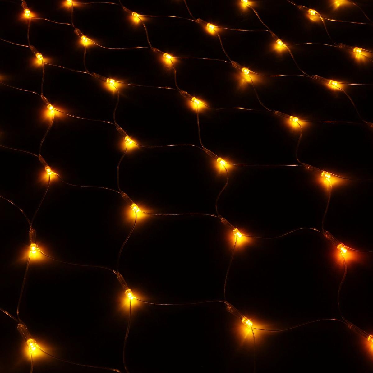 Гирлянда Luazon Сетка, длина 0,9 м, LED 120 ламп, 220V, цвет: желтый. 187207187207Светодиодные гирлянды, ленты и т.д — это отличный вариант для новогоднего оформления интерьера или фасада. С их помощью помещение любого размера можно превратить в праздничный зал, а внешние элементы зданий, украшенные ими, мгновенно станут напоминать очертания сказочного дворца. Такие украшения создают ауру предвкушения чуда. Деревья, фасады, витрины, окна и арки будто специально созданы, чтобы вы украсили их светящимися нитями.