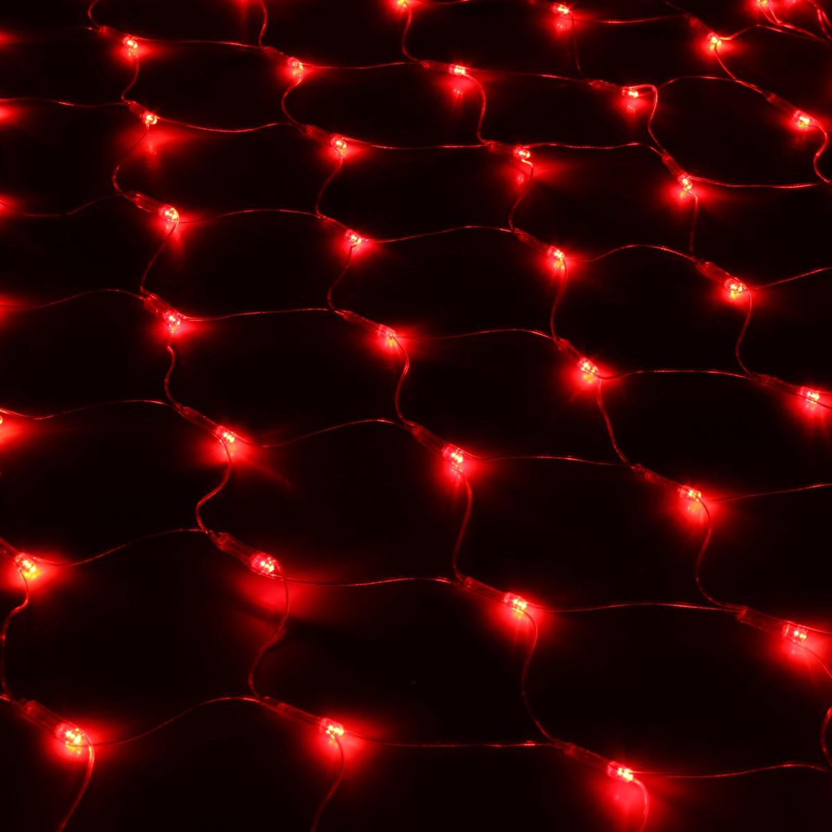 Гирлянда Luazon Сетка, длина 0,9 м, LED 120 ламп, 220V, цвет: красный. 187208187208Светодиодные гирлянды, ленты и т.д — это отличный вариант для новогоднего оформления интерьера или фасада. С их помощью помещение любого размера можно превратить в праздничный зал, а внешние элементы зданий, украшенные ими, мгновенно станут напоминать очертания сказочного дворца. Такие украшения создают ауру предвкушения чуда. Деревья, фасады, витрины, окна и арки будто специально созданы, чтобы вы украсили их светящимися нитями.