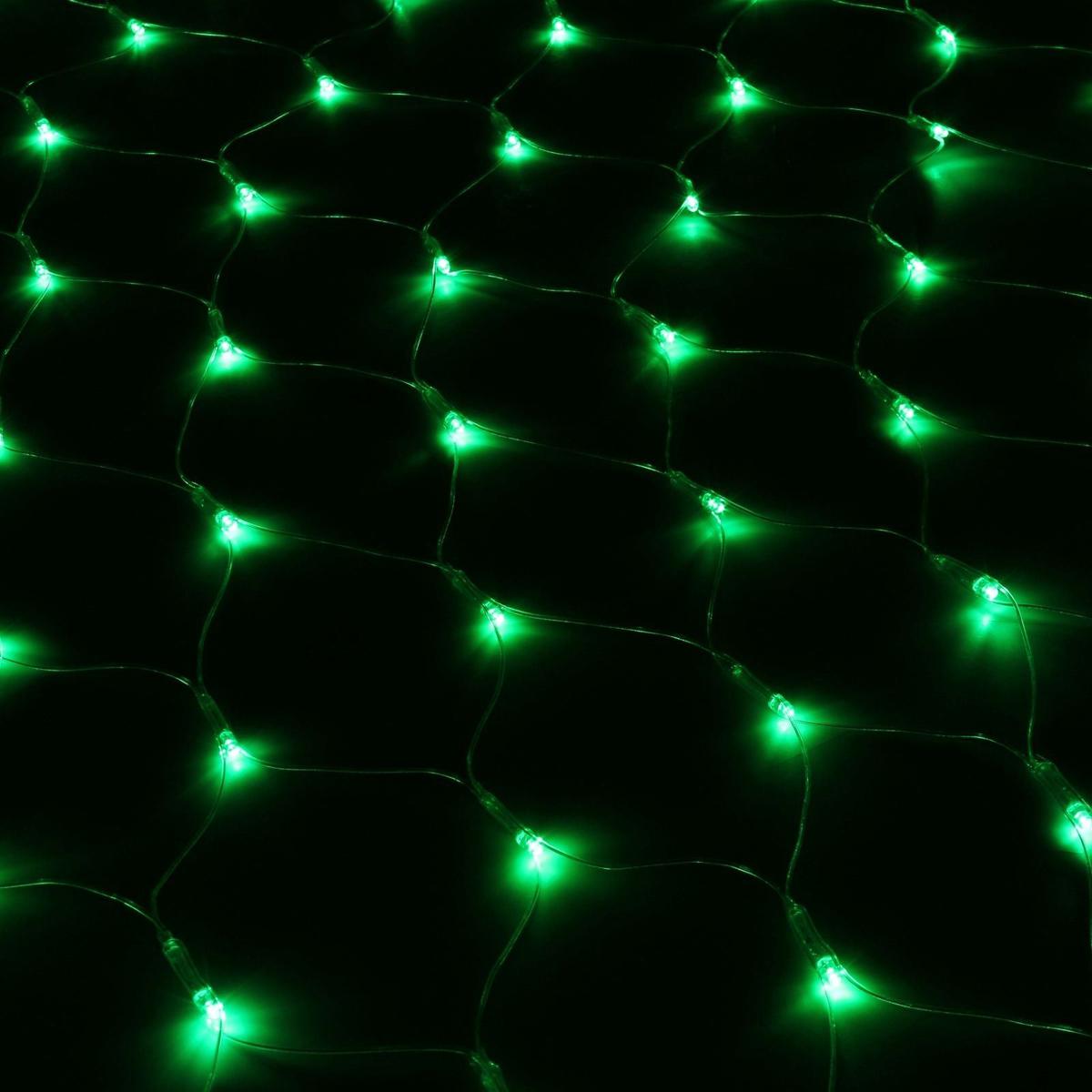 Гирлянда Luazon Сетка, длина 1,1 м, LED 144 ламп, 220V, цвет: зеленый. 187219187219Светодиодные гирлянды, ленты и т.д — это отличный вариант для новогоднего оформления интерьера или фасада. С их помощью помещение любого размера можно превратить в праздничный зал, а внешние элементы зданий, украшенные ими, мгновенно станут напоминать очертания сказочного дворца. Такие украшения создают ауру предвкушения чуда. Деревья, фасады, витрины, окна и арки будто специально созданы, чтобы вы украсили их светящимися нитями.