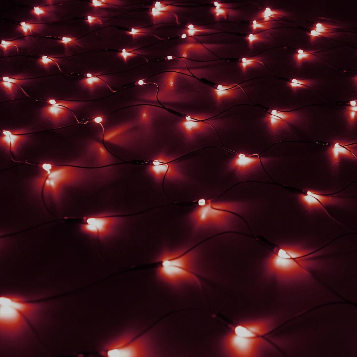 Гирлянда Luazon Сетка, длина 1,1 м, LED 144 ламп, 220V, цвет: красный. 187220187220Светодиодные гирлянды, ленты и т.д — это отличный вариант для новогоднего оформления интерьера или фасада. С их помощью помещение любого размера можно превратить в праздничный зал, а внешние элементы зданий, украшенные ими, мгновенно станут напоминать очертания сказочного дворца. Такие украшения создают ауру предвкушения чуда. Деревья, фасады, витрины, окна и арки будто специально созданы, чтобы вы украсили их светящимися нитями.