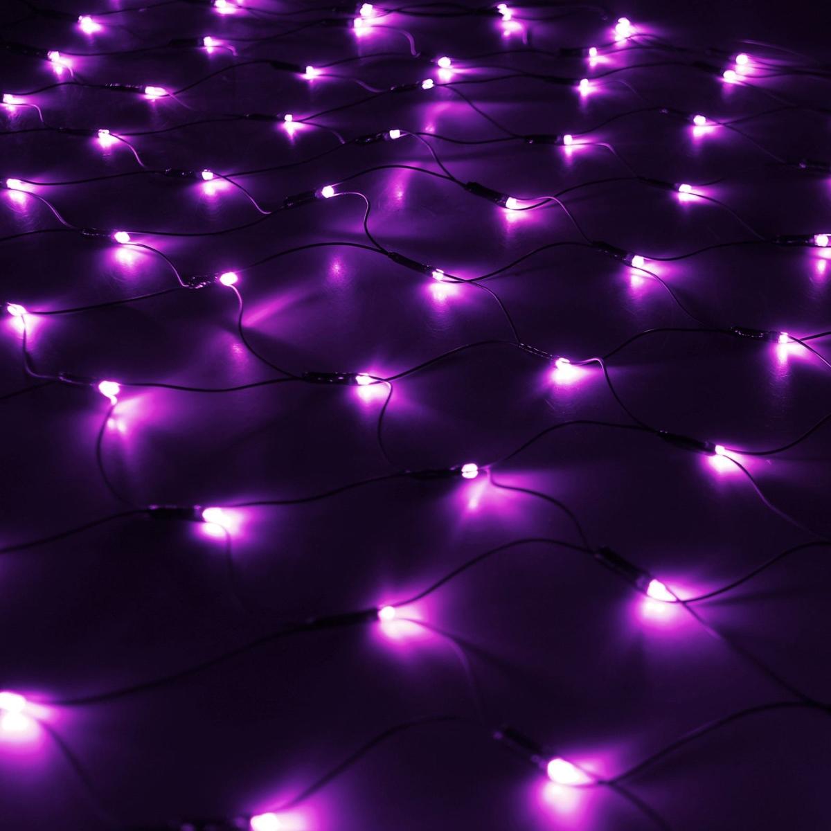 Гирлянда Luazon Сетка, длина 1,1 м, LED 144 ламп, 220V, цвет: фиолетовый. 187221187221Светодиодные гирлянды, ленты и т.д — это отличный вариант для новогоднего оформления интерьера или фасада. С их помощью помещение любого размера можно превратить в праздничный зал, а внешние элементы зданий, украшенные ими, мгновенно станут напоминать очертания сказочного дворца. Такие украшения создают ауру предвкушения чуда. Деревья, фасады, витрины, окна и арки будто специально созданы, чтобы вы украсили их светящимися нитями.