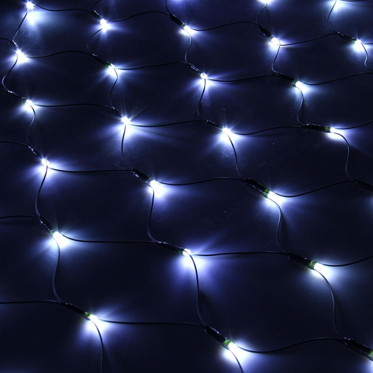 Гирлянда Luazon Сетка, длина 1,1 м, LED 144 ламп, 220V, цвет: белый187222Светодиодные гирлянды, ленты и т.д — это отличный вариант для новогоднего оформления интерьера или фасада. С их помощью помещение любого размера можно превратить в праздничный зал, а внешние элементы зданий, украшенные ими, мгновенно станут напоминать очертания сказочного дворца. Такие украшения создают ауру предвкушения чуда. Деревья, фасады, витрины, окна и арки будто специально созданы, чтобы вы украсили их светящимися нитями.