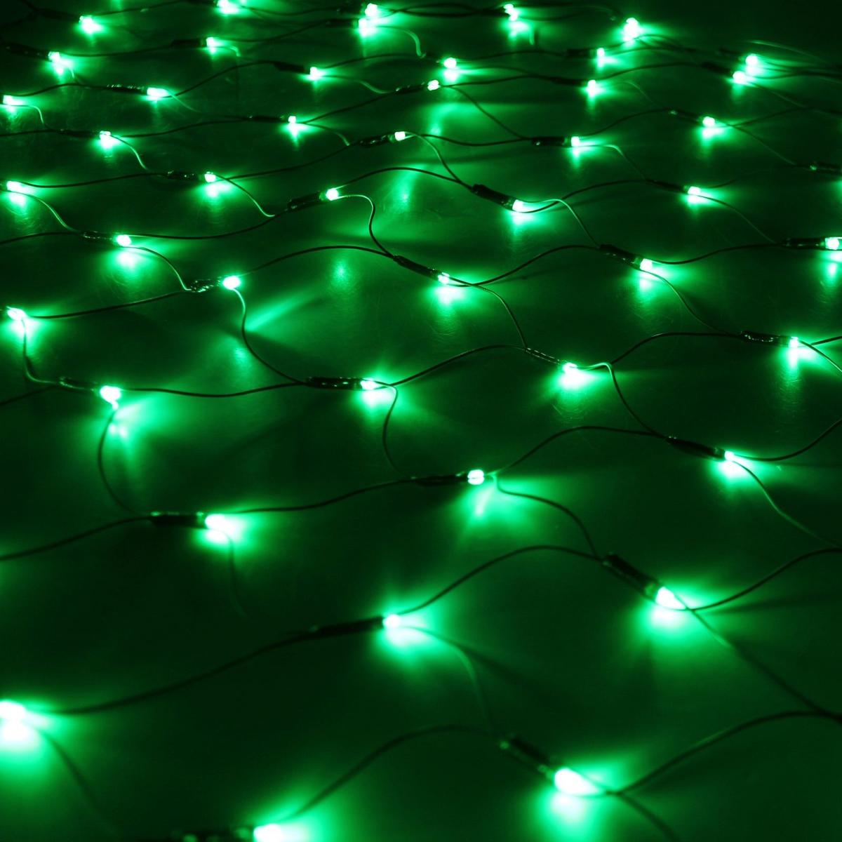 Гирлянда Luazon Сетка, длина 1,1 м, LED 144 ламп, 220V, цвет: зеленый. 187224187224Светодиодные гирлянды, ленты и т.д — это отличный вариант для новогоднего оформления интерьера или фасада. С их помощью помещение любого размера можно превратить в праздничный зал, а внешние элементы зданий, украшенные ими, мгновенно станут напоминать очертания сказочного дворца. Такие украшения создают ауру предвкушения чуда. Деревья, фасады, витрины, окна и арки будто специально созданы, чтобы вы украсили их светящимися нитями.