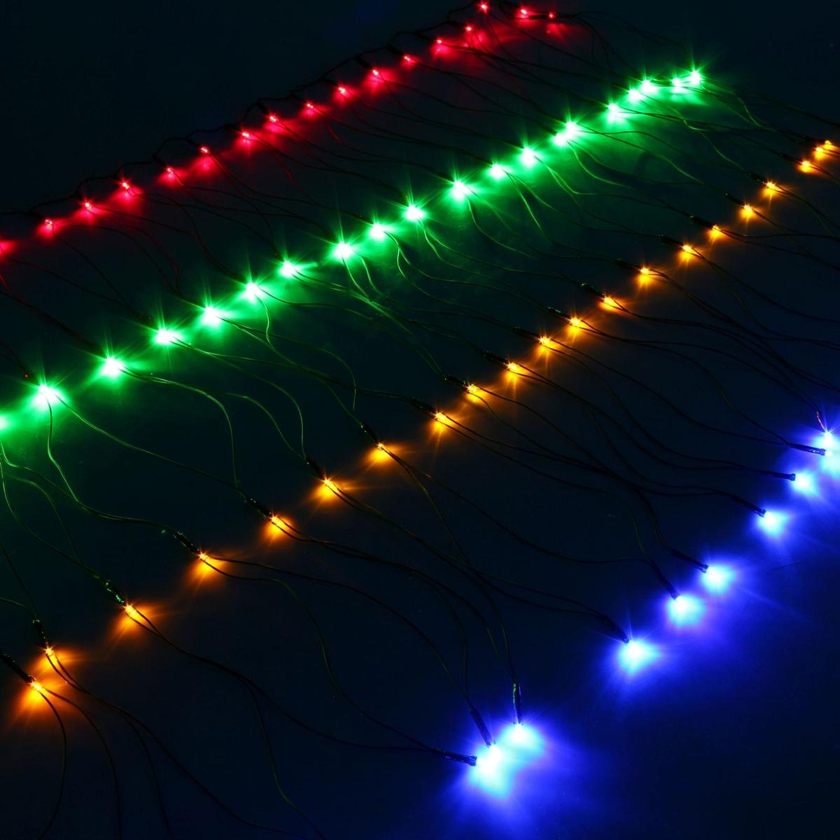Гирлянда Luazon Сетка, длина 0,7 м, LED 96 ламп, 220V, цвет: мультиколор. 671621671621Светодиодные гирлянды, ленты и т.д — это отличный вариант для новогоднего оформления интерьера или фасада. С их помощью помещение любого размера можно превратить в праздничный зал, а внешние элементы зданий, украшенные ими, мгновенно станут напоминать очертания сказочного дворца. Такие украшения создают ауру предвкушения чуда. Деревья, фасады, витрины, окна и арки будто специально созданы, чтобы вы украсили их светящимися нитями.