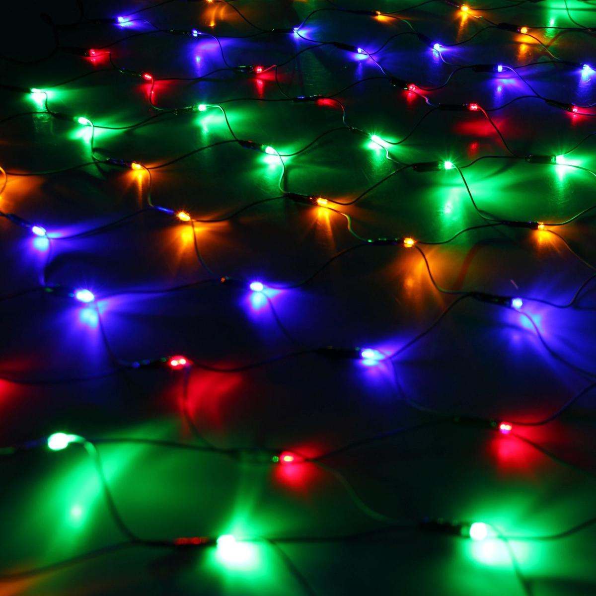 Гирлянда Luazon Сетка, длина 1,1 м, LED 144 ламп, 220V, цвет: мультиколор. 671623671623Светодиодные гирлянды, ленты и т.д — это отличный вариант для новогоднего оформления интерьера или фасада. С их помощью помещение любого размера можно превратить в праздничный зал, а внешние элементы зданий, украшенные ими, мгновенно станут напоминать очертания сказочного дворца. Такие украшения создают ауру предвкушения чуда. Деревья, фасады, витрины, окна и арки будто специально созданы, чтобы вы украсили их светящимися нитями.