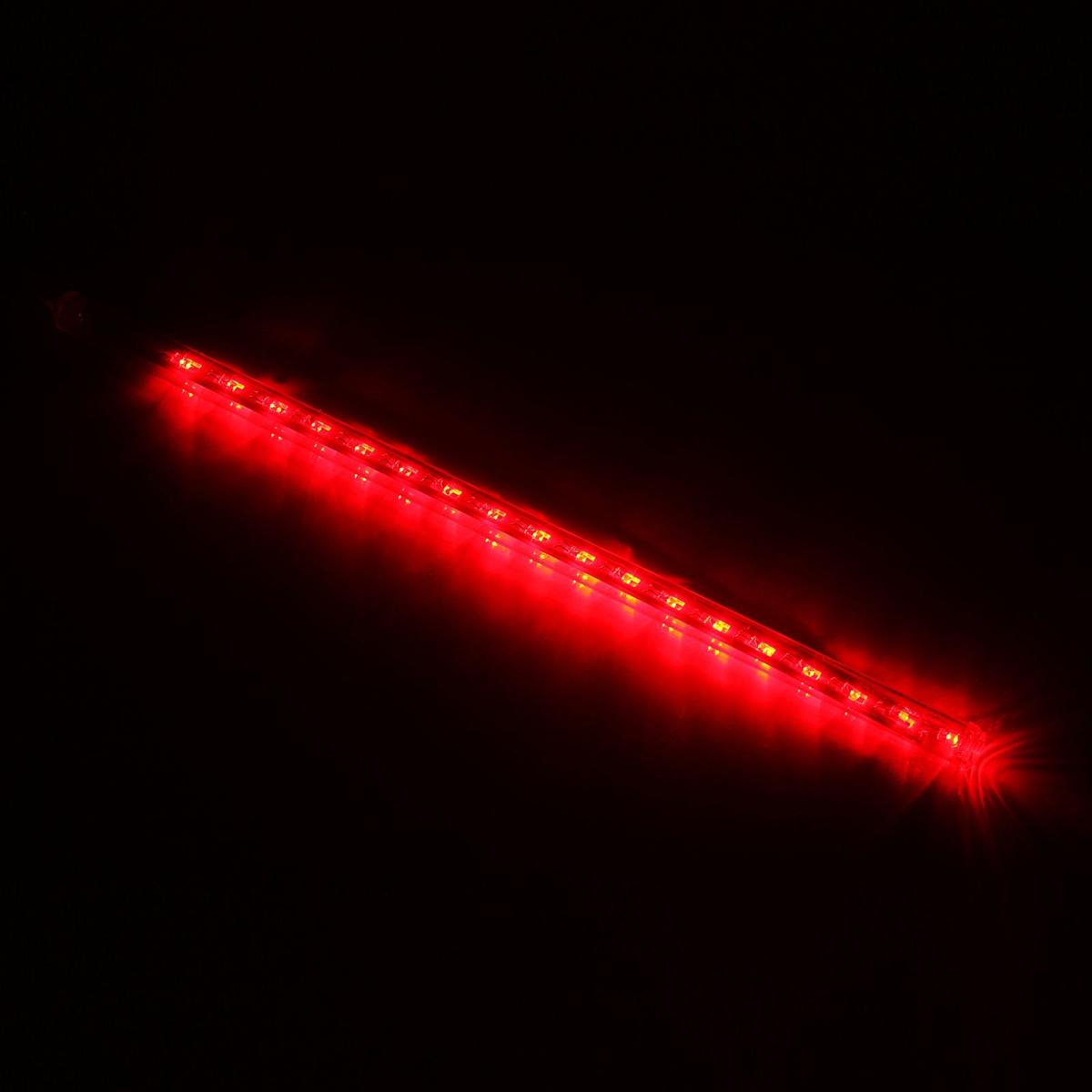 Светодиодная сосулька Luazon Тающая, длина 0,3 м, диаметр 2 см, LED 18 ламп, 220V, цвет: красный678893Светодиодные гирлянды, ленты и т.д — это отличный вариант для новогоднего оформления интерьера или фасада. С их помощью помещение любого размера можно превратить в праздничный зал, а внешние элементы зданий, украшенные ими, мгновенно станут напоминать очертания сказочного дворца. Такие украшения создают ауру предвкушения чуда. Деревья, фасады, витрины, окна и арки будто специально созданы, чтобы вы украсили их светящимися нитями.