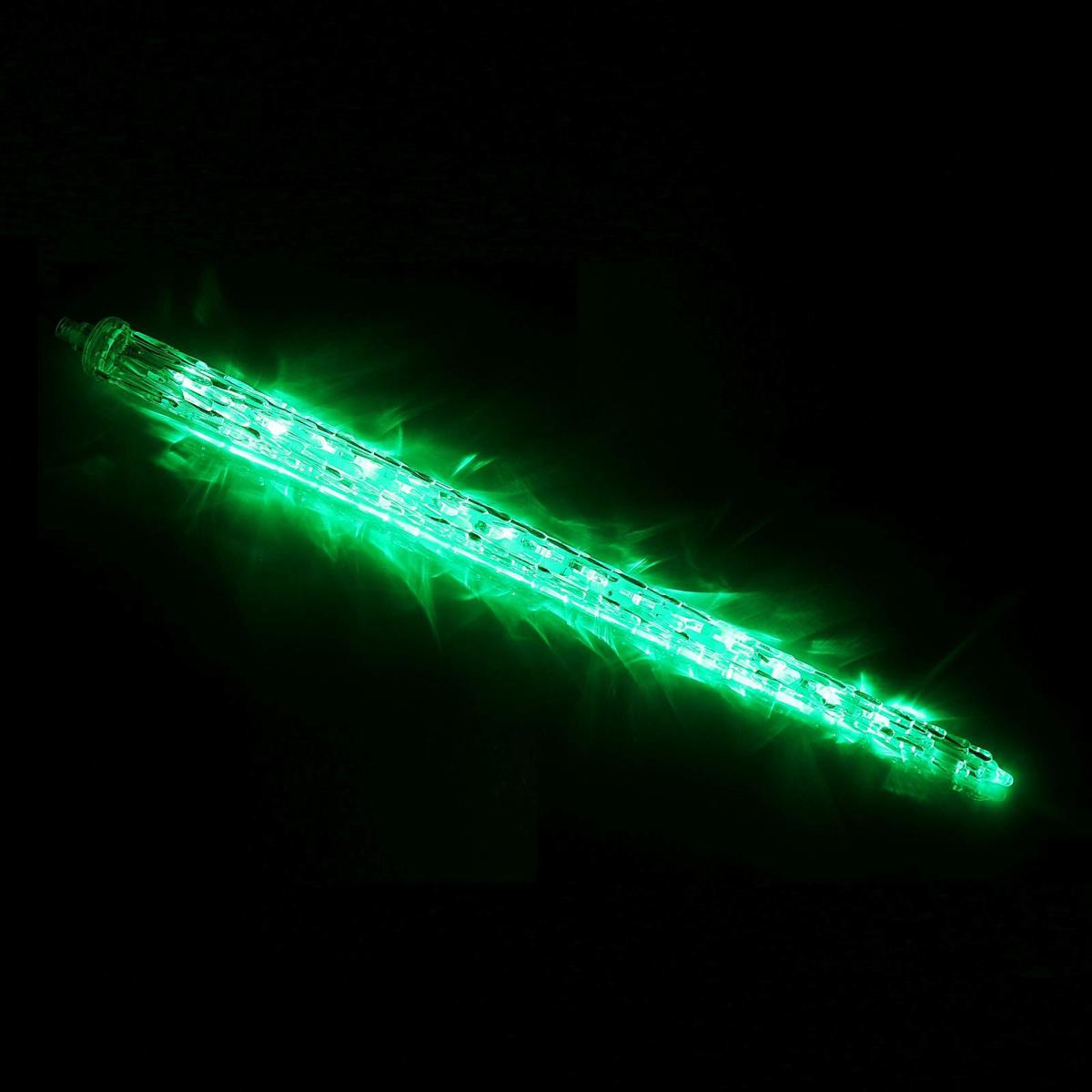 Светодиодная сосулька Luazon Рифленая, длина 0,5 м, диаметр 4 см, LED 30 ламп, 220V, цвет: зеленый678907Светодиодные гирлянды, ленты и т.д — это отличный вариант для новогоднего оформления интерьера или фасада. С их помощью помещение любого размера можно превратить в праздничный зал, а внешние элементы зданий, украшенные ими, мгновенно станут напоминать очертания сказочного дворца. Такие украшения создают ауру предвкушения чуда. Деревья, фасады, витрины, окна и арки будто специально созданы, чтобы вы украсили их светящимися нитями.