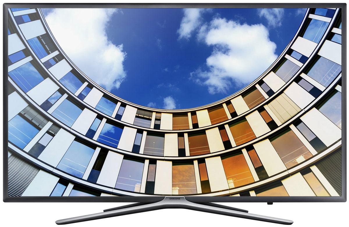 Samsung UE55M5500AUX телевизорUE-55M5500AUXSamsung UE55M5500AUX - новые впечатления от просмотра. Анализируя исходный контент с помощью нового алгоритма, технология Ultra Clean View формирует высококачественное изображение с минимальными искажениями. Оцените четкость картинки на экране.Более объемное изображение благодаря эффекту перспективы. Функция усиления контрастности регулирует четкость фрагментов изображения на разных планах, превращая плоское изображение в объемное.Изображение во всех деталях и оттенках даже в самых темных и светлых сценах. Технология локального затемнения Micro Dimming Pro делит экран на фрагменты, анализирует изображение в каждом из них и улучшает передачу деталей в тенях и светах.Функция Purcolour делает цвета более естественными. Погрузитесь в атмосферу ТВ развлечений и оцените, насколько точно и естественно отображаются цвета на экране.Гладкая бесшовная текстура корпуса телевизора идеально дополнит интерьер, где бы вы не установили телевизор.Универсальный пульт One remote Control. Полный контроль над системой домашних развлечений в ваших руках. Управляйте всеми подключенными устройствами с помощью универсального пульта ДУ. Благодаря функции голосового управления вам больше не придется переключать каналы вручную.Просто подключите ваше мобильное устройство к телевизору и просматривайте контент на большом экране. С помощью приложения Smart View вы сможете управлять всей системой с экрана мобильного устройства.Теперь весь контент находится на одном экране. Выбирайте разные приложения и пользуйтесь функцией предпросмотра, чтобы не прерывать текущий просмотр.Телевизор Samsung автоматически отображает наименования подключенных устройств - легко находите необходимые внешние устройства.Вставьте любой накопитель в USB и смотрите на большом ТВ экране видео, фильмы, фотографии или слушайте музыку.