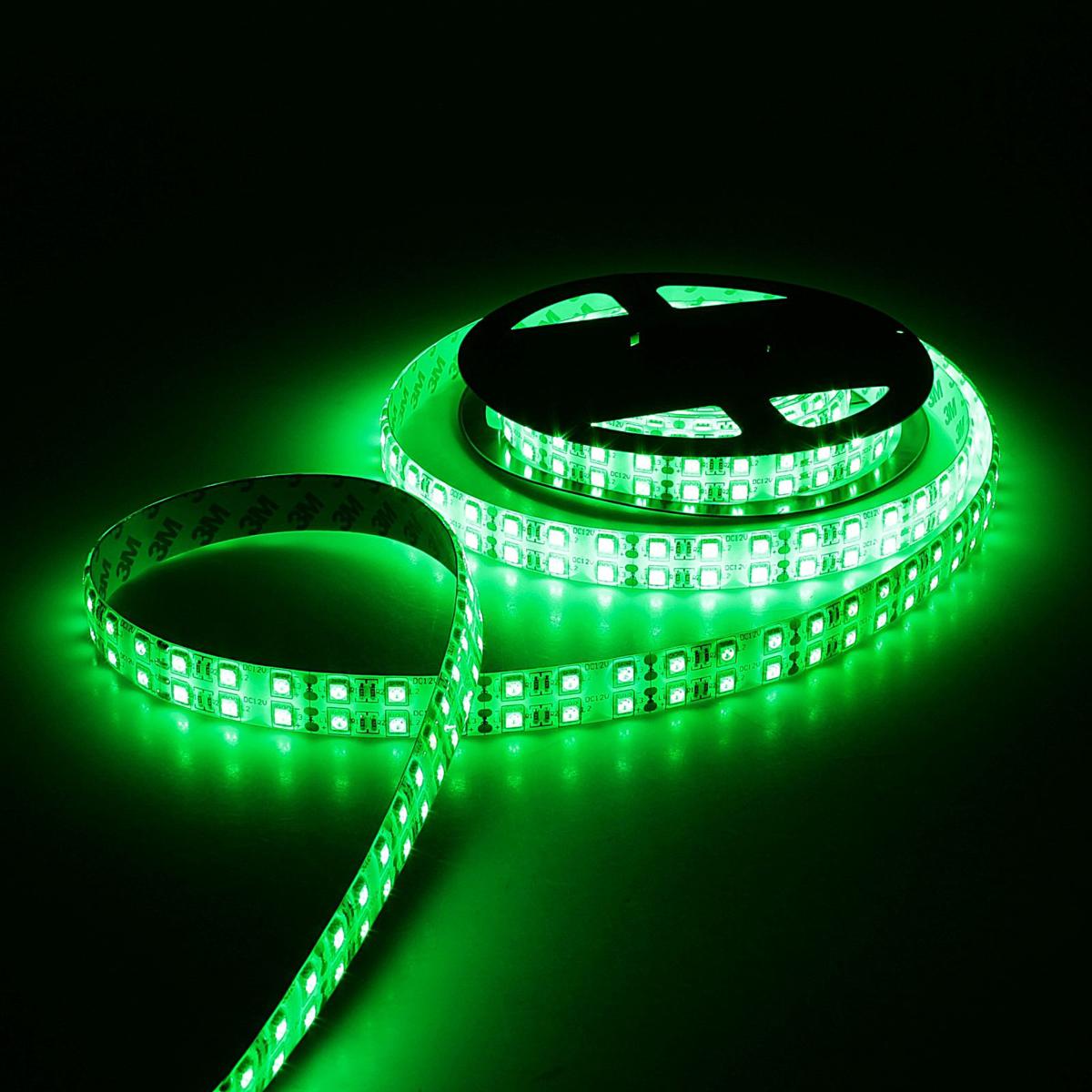 Светодиодная лента Sima-land, 12В, SMD5050, длина 5 м, IP65, 120 LED ламп, 28.8 Вт/м, 10-12 Лм/1 LED, DC, цвет: зеленый848558Светодиодные гирлянды, ленты и т.д — это отличный вариант для новогоднего оформления интерьера или фасада. С их помощью помещение любого размера можно превратить в праздничный зал, а внешние элементы зданий, украшенные ими, мгновенно станут напоминать очертания сказочного дворца. Такие украшения создают ауру предвкушения чуда. Деревья, фасады, витрины, окна и арки будто специально созданы, чтобы вы украсили их светящимися нитями.