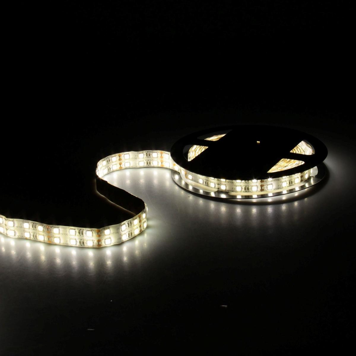 Светодиодная лента Sima-land, 12В, SMD5050, длина 5 м, IP65, 120 LED ламп, 28.8Вт/м, 10-12 Лм/1 LED, DC, цвет: теплый белый848562Светодиодные гирлянды, ленты и т.д — это отличный вариант для новогоднего оформления интерьера или фасада. С их помощью помещение любого размера можно превратить в праздничный зал, а внешние элементы зданий, украшенные ими, мгновенно станут напоминать очертания сказочного дворца. Такие украшения создают ауру предвкушения чуда. Деревья, фасады, витрины, окна и арки будто специально созданы, чтобы вы украсили их светящимися нитями.
