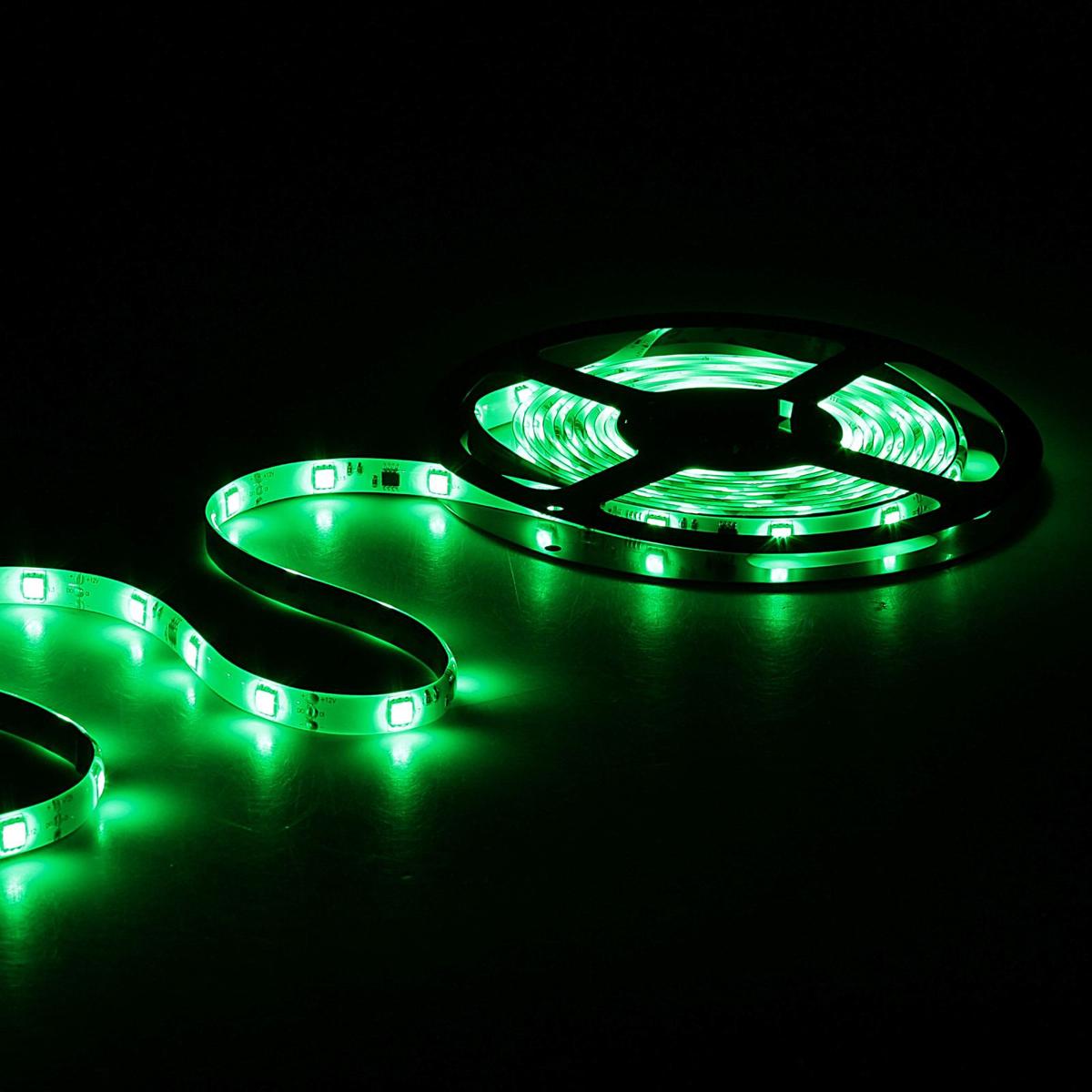 Светодиодная лента Sima-land, 12В, SMD5050, длина 5 м, IP65, 30 LED ламп, 7.2Вт/м, 10-12 Лм/1 LED, DC, цвет: зеленый848578Светодиодные гирлянды, ленты и т.д — это отличный вариант для новогоднего оформления интерьера или фасада. С их помощью помещение любого размера можно превратить в праздничный зал, а внешние элементы зданий, украшенные ими, мгновенно станут напоминать очертания сказочного дворца. Такие украшения создают ауру предвкушения чуда. Деревья, фасады, витрины, окна и арки будто специально созданы, чтобы вы украсили их светящимися нитями.