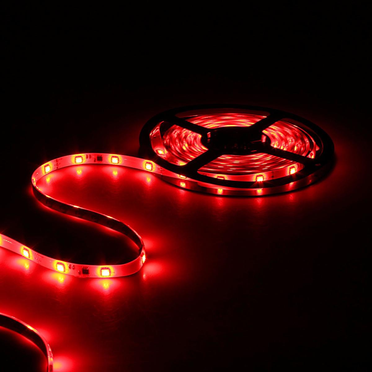 Светодиодная лента Sima-land, 12В, SMD5050, длина 5 м, IP65, 30 LED ламп, 7.2Вт/м, 10-12Л м/1 LED, DC, цвет: красный848580Светодиодные гирлянды, ленты и т.д — это отличный вариант для новогоднего оформления интерьера или фасада. С их помощью помещение любого размера можно превратить в праздничный зал, а внешние элементы зданий, украшенные ими, мгновенно станут напоминать очертания сказочного дворца. Такие украшения создают ауру предвкушения чуда. Деревья, фасады, витрины, окна и арки будто специально созданы, чтобы вы украсили их светящимися нитями.