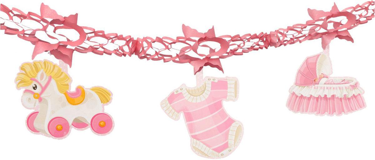 Страна Карнавалия Гирлянда Новорожденный цвет розовый 1037210 -  Гирлянды и подвески
