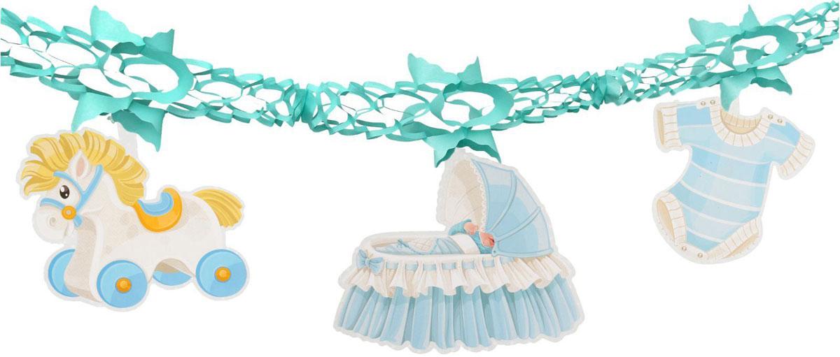 Страна Карнавалия Гирлянда Новорожденный цвет голубой 1037211 -  Гирлянды и подвески