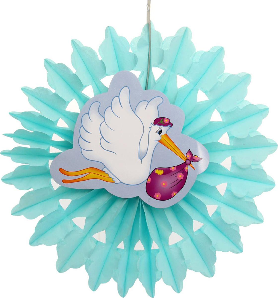 Страна Карнавалия Изделие из бумаги декор Аист цвет голубой