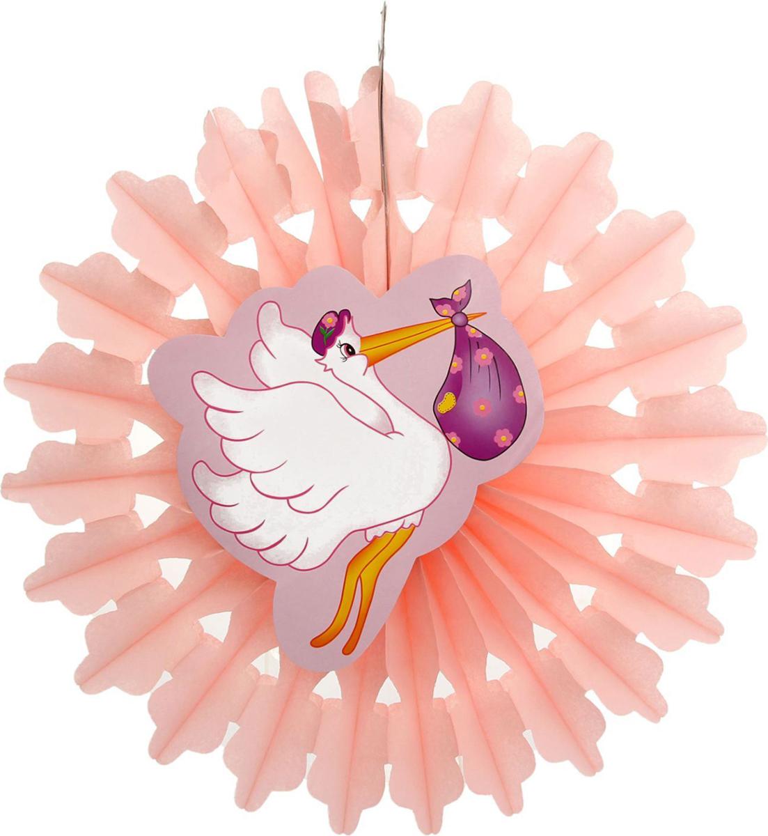Страна Карнавалия Изделие из бумаги декор Аист цвет розовый 1037264 -  Гирлянды и подвески