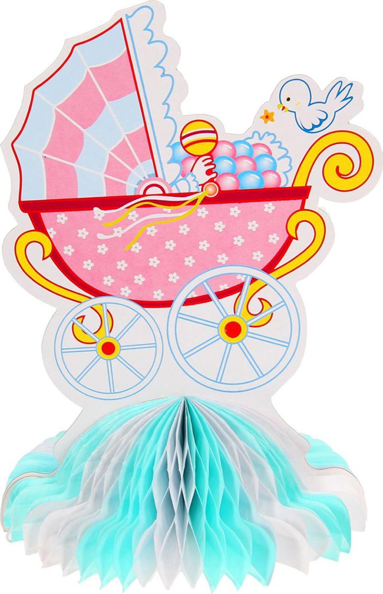 Страна Карнавалия Изделие из бумаги декор Коляска цвет голубой 1037267