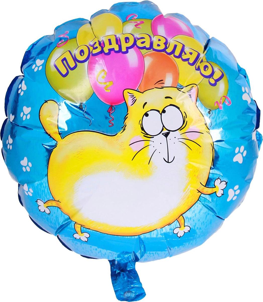 Страна Карнавалия Шар фольгированный Поздравляю Котэ Круг 18 дюймов 48260 страна карнавалия шар воздушный с днем рождения корона 5 шт