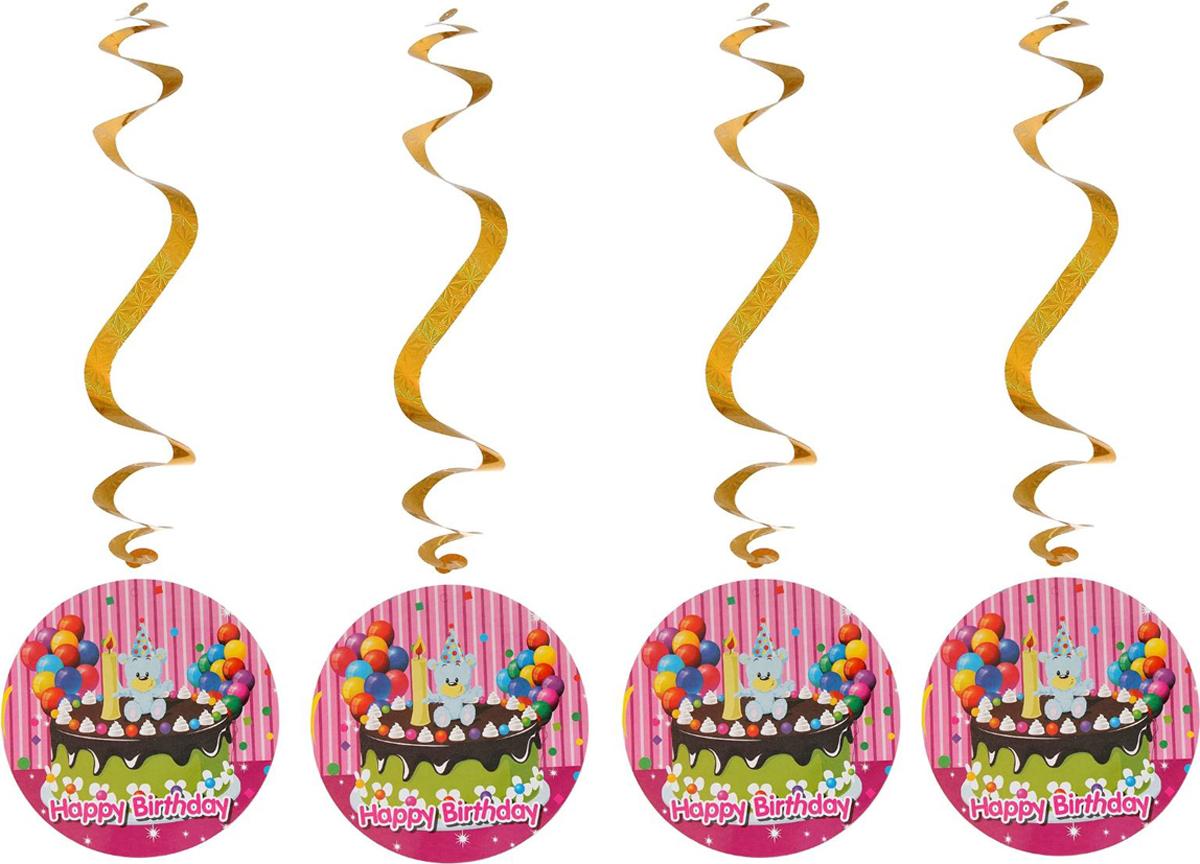 Страна Карнавалия Спираль серпантин Праздник 4 шт 1053271