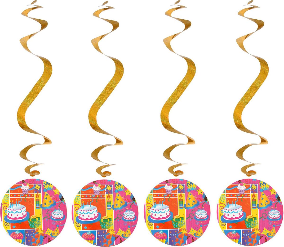Страна Карнавалия Спираль серпантин Веселый праздник 4 шт 1053274 -  Серпантин