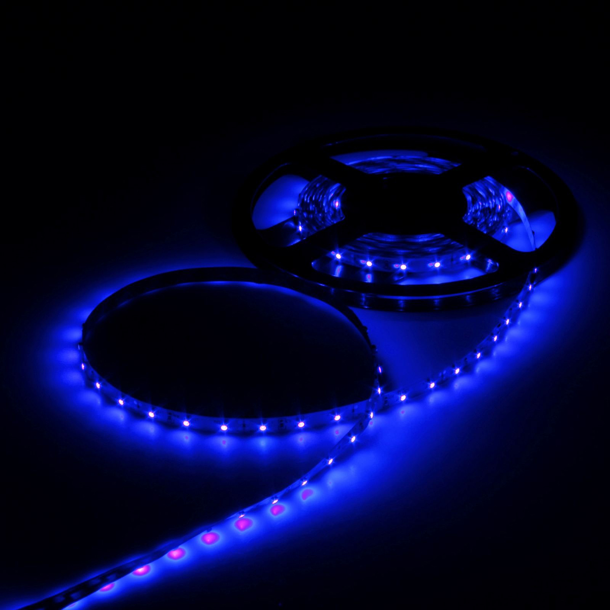 Светодиодная лента Luazon, 12В, SMD3528, длина 5 м, IP33, 60 LED ламп, 4.8 Вт/м, 6-7 Лм/1 LED, DC, цвет: синий883872Светодиодные гирлянды, ленты и т.д — это отличный вариант для новогоднего оформления интерьера или фасада. С их помощью помещение любого размера можно превратить в праздничный зал, а внешние элементы зданий, украшенные ими, мгновенно станут напоминать очертания сказочного дворца. Такие украшения создают ауру предвкушения чуда. Деревья, фасады, витрины, окна и арки будто специально созданы, чтобы вы украсили их светящимися нитями.