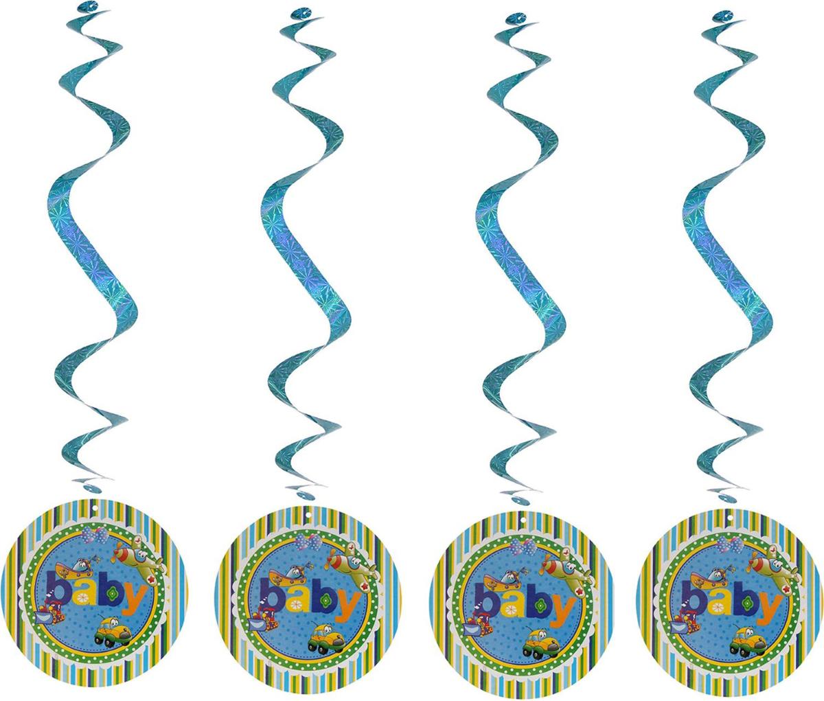Страна Карнавалия Спираль серпантин Детский праздник для мальчика 4 шт 1053278