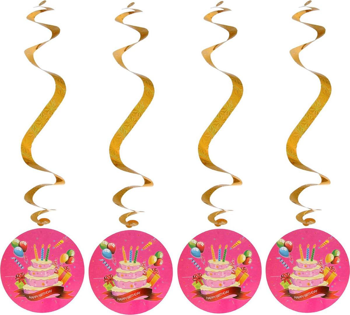 Страна Карнавалия Спираль серпантин Праздничный торт набор 4 шт 1053290