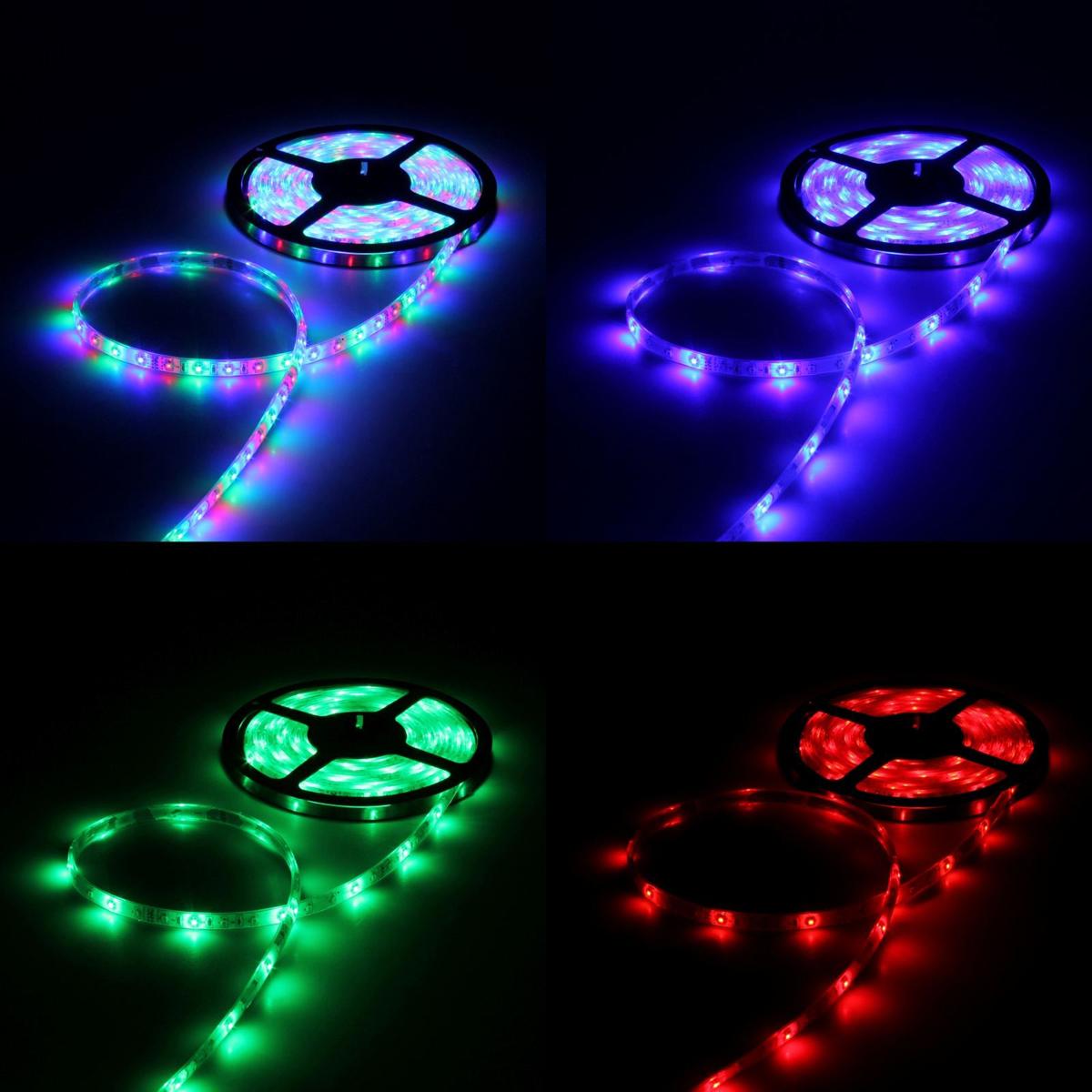 Светодиодная лента Luazon, 12В, SMD3528, длина 5 м, IP68, 60 LED ламп, 4.8 Вт/м, 6-7 Лм/1 LED, DC, цвет: мультиколор883893Светодиодные гирлянды, ленты и т.д — это отличный вариант для новогоднего оформления интерьера или фасада. С их помощью помещение любого размера можно превратить в праздничный зал, а внешние элементы зданий, украшенные ими, мгновенно станут напоминать очертания сказочного дворца. Такие украшения создают ауру предвкушения чуда. Деревья, фасады, витрины, окна и арки будто специально созданы, чтобы вы украсили их светящимися нитями.