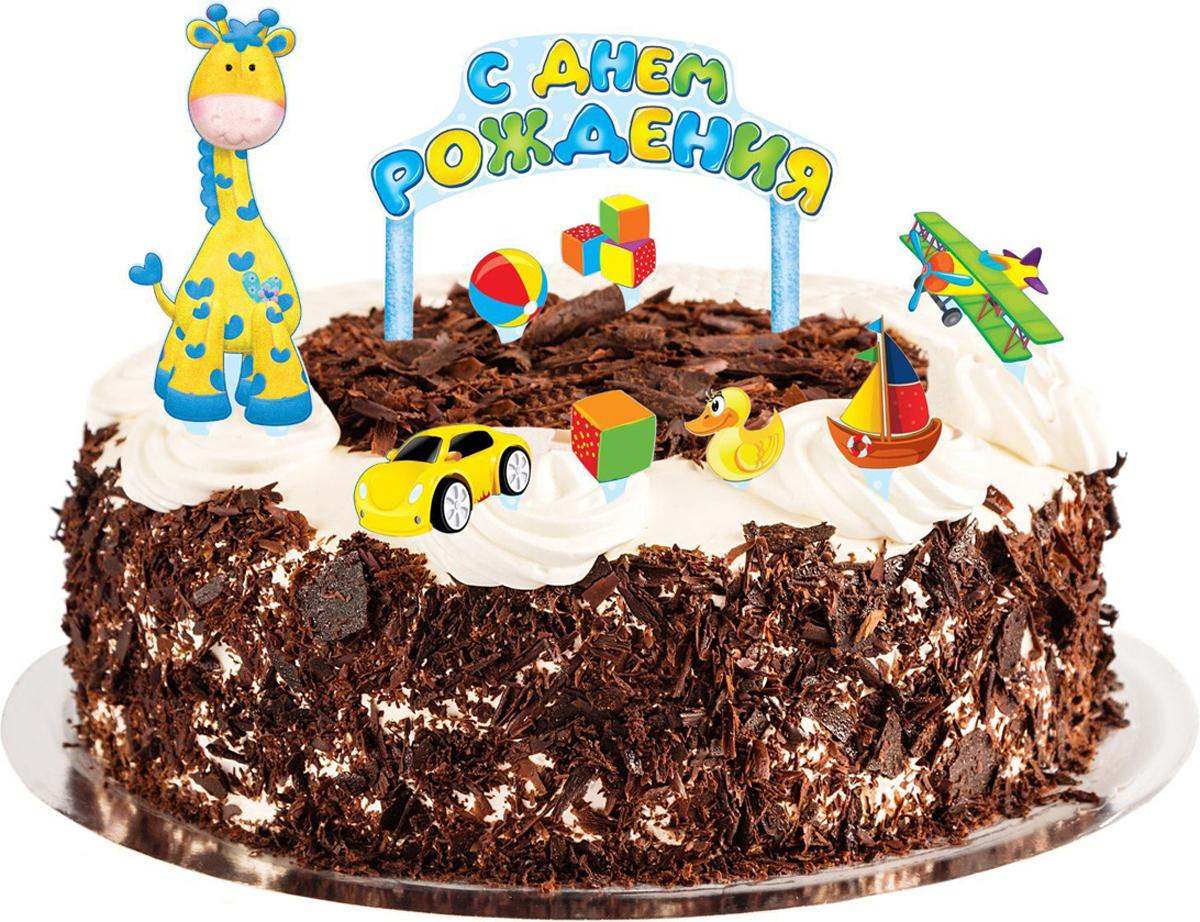 Страна Карнавалия Набор для украшения торта С днем рождения Малыш 1116136 замок велосипедный stg cl 402 кодовый цвет черный 12 мм х 150 см
