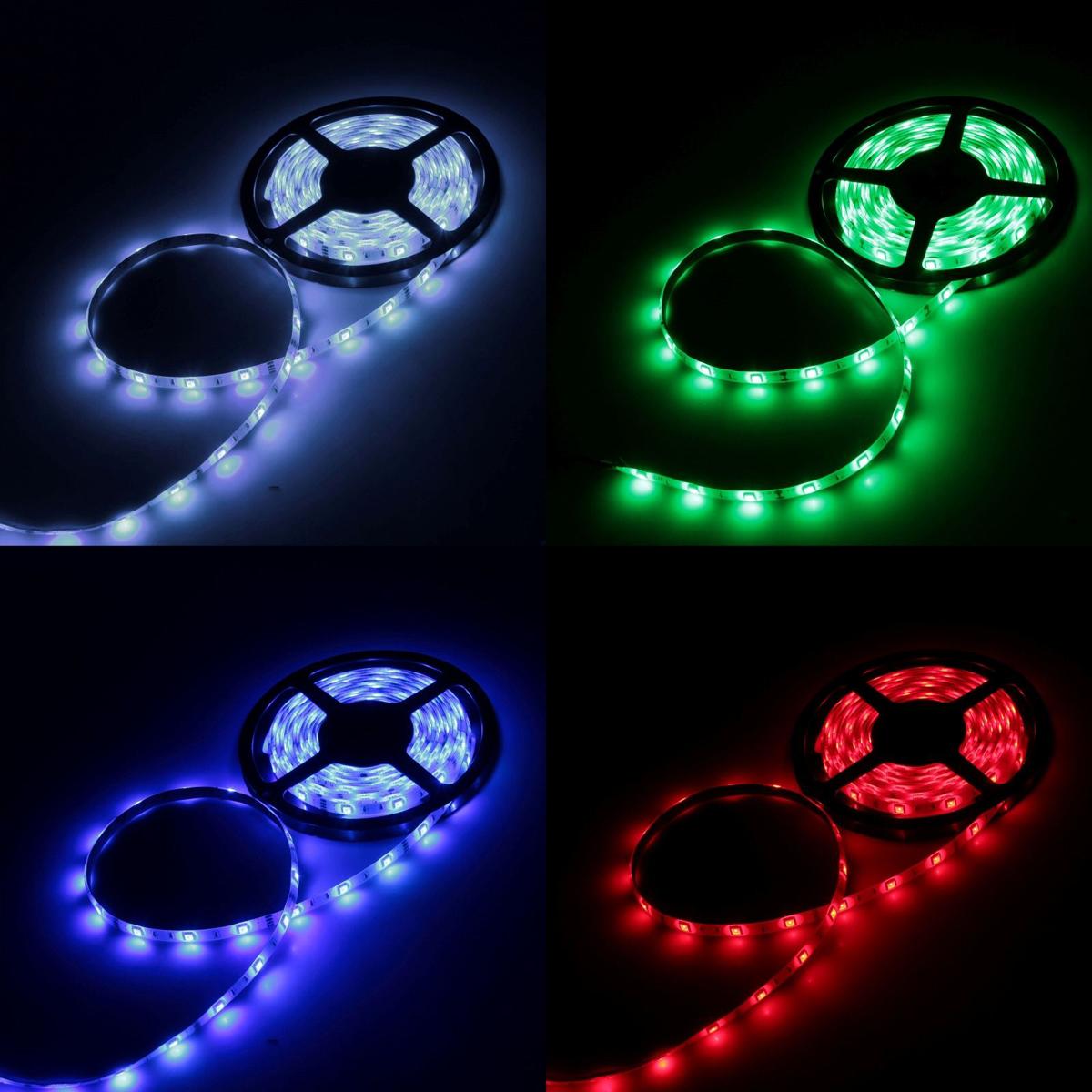 Светодиодная лента Luazon, 12В, SMD5050, длина 5 м, IP33, 30 LED ламп, 7.2 Вт/м, 14-16 Лм/1 LED, DC, цвет: мультиколор883922Светодиодные гирлянды, ленты и т.д — это отличный вариант для новогоднего оформления интерьера или фасада. С их помощью помещение любого размера можно превратить в праздничный зал, а внешние элементы зданий, украшенные ими, мгновенно станут напоминать очертания сказочного дворца. Такие украшения создают ауру предвкушения чуда. Деревья, фасады, витрины, окна и арки будто специально созданы, чтобы вы украсили их светящимися нитями.