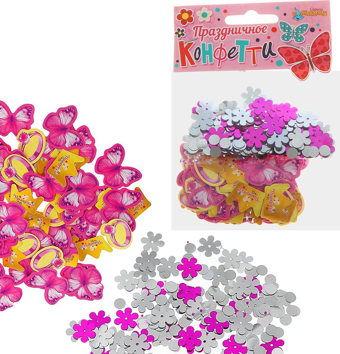 Страна Карнавалия Конфетти Принцесса набор 2 пакета + бумажное конфетти 1134842