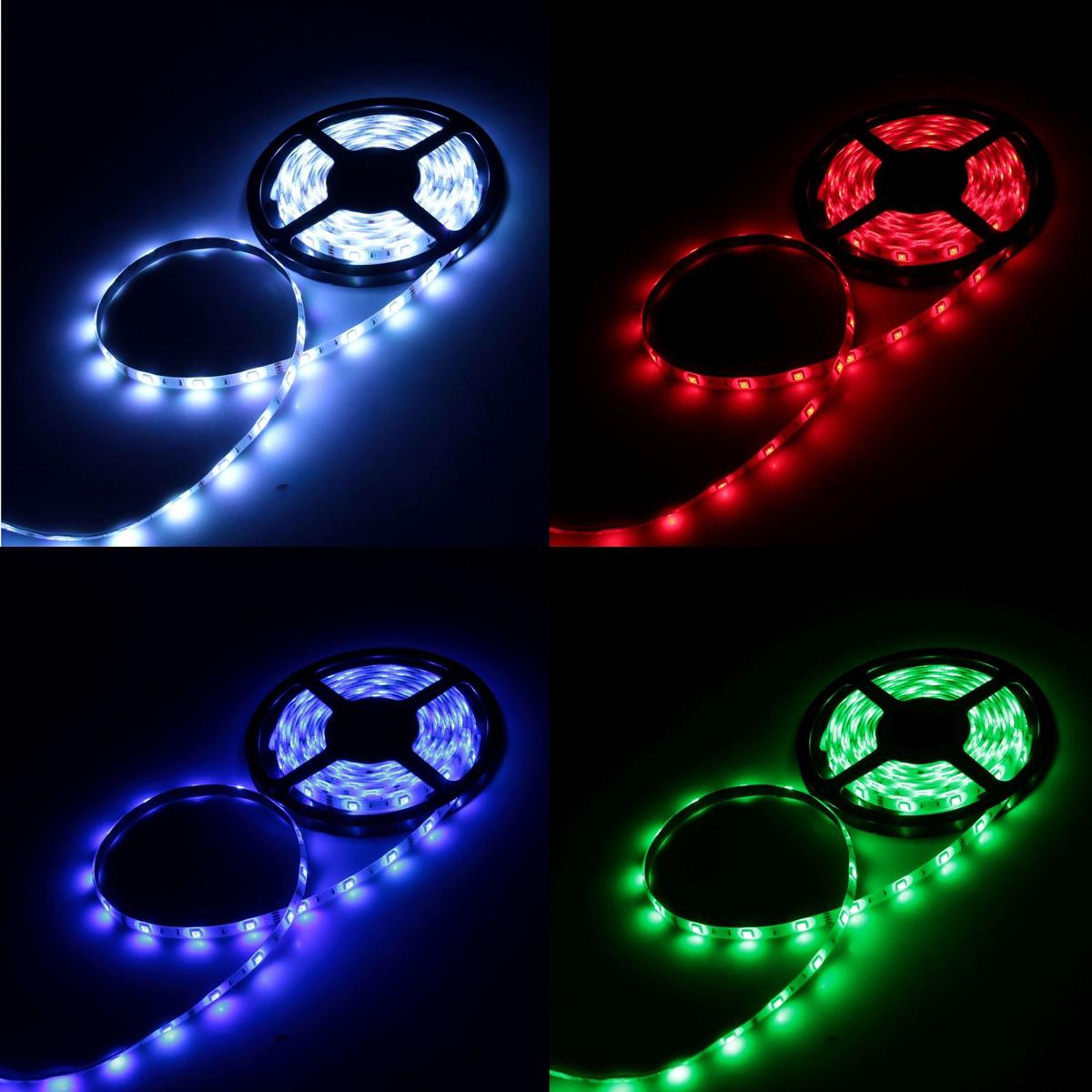Светодиодная лента Luazon, 12В, SMD5050, длина 5 м, IP65, 30 LED ламп, 7.2 Вт/м, 14-16 Лм/1 LED, DC, цвет: мультиколор217-119Светодиодные гирлянды, ленты и т.д — это отличный вариант для новогоднего оформления интерьера или фасада. С их помощью помещение любого размера можно превратить в праздничный зал, а внешние элементы зданий, украшенные ими, мгновенно станут напоминать очертания сказочного дворца. Такие украшения создают ауру предвкушения чуда. Деревья, фасады, витрины, окна и арки будто специально созданы, чтобы вы украсили их светящимися нитями.