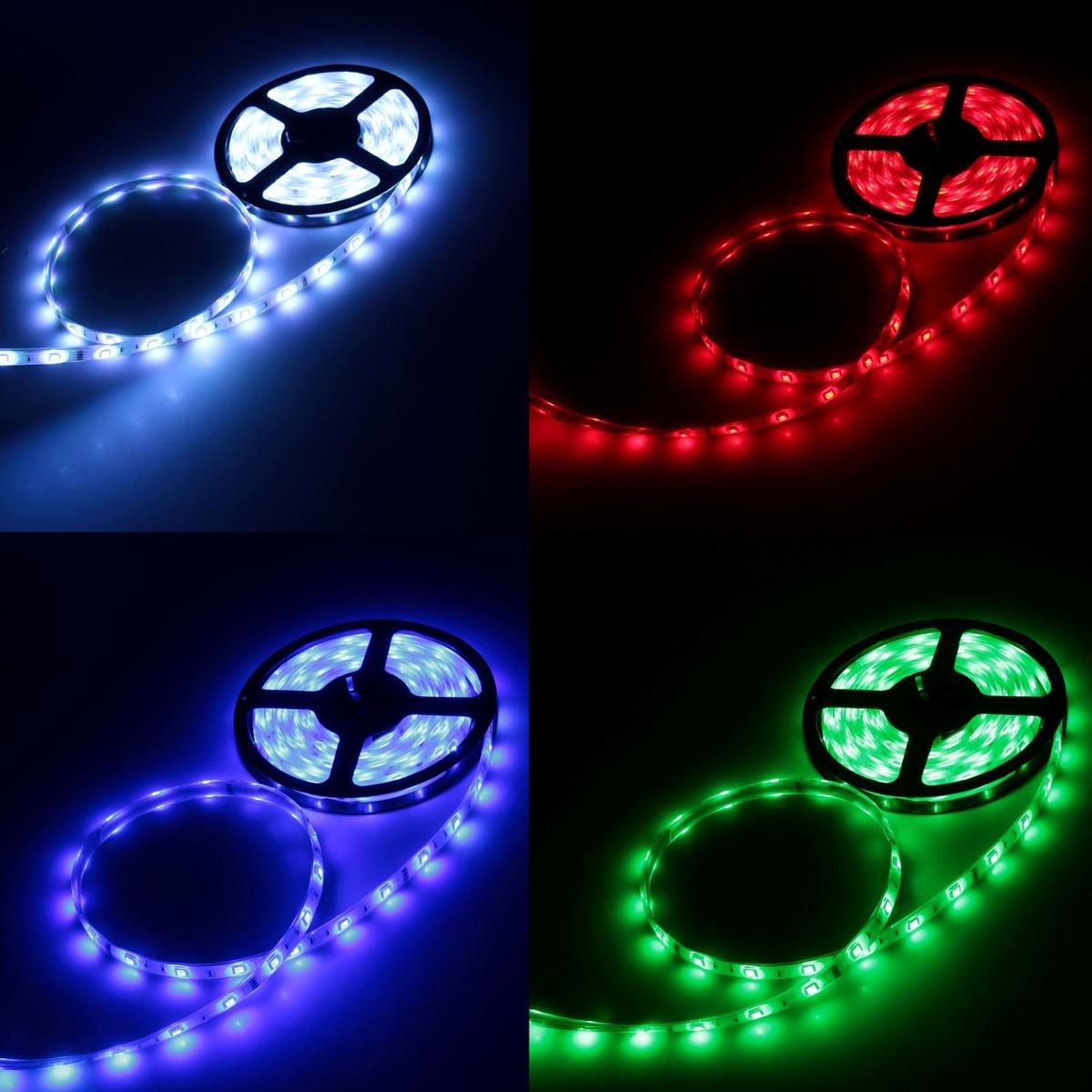 Светодиодная лента Luazon, 12В, SMD5050, длина 5 м, IP68, 30 LED ламп, 7.2 Вт/м, 14-16 Лм/1 LED, DC, цвет: мультиколор883938Светодиодные гирлянды, ленты и т.д — это отличный вариант для новогоднего оформления интерьера или фасада. С их помощью помещение любого размера можно превратить в праздничный зал, а внешние элементы зданий, украшенные ими, мгновенно станут напоминать очертания сказочного дворца. Такие украшения создают ауру предвкушения чуда. Деревья, фасады, витрины, окна и арки будто специально созданы, чтобы вы украсили их светящимися нитями.