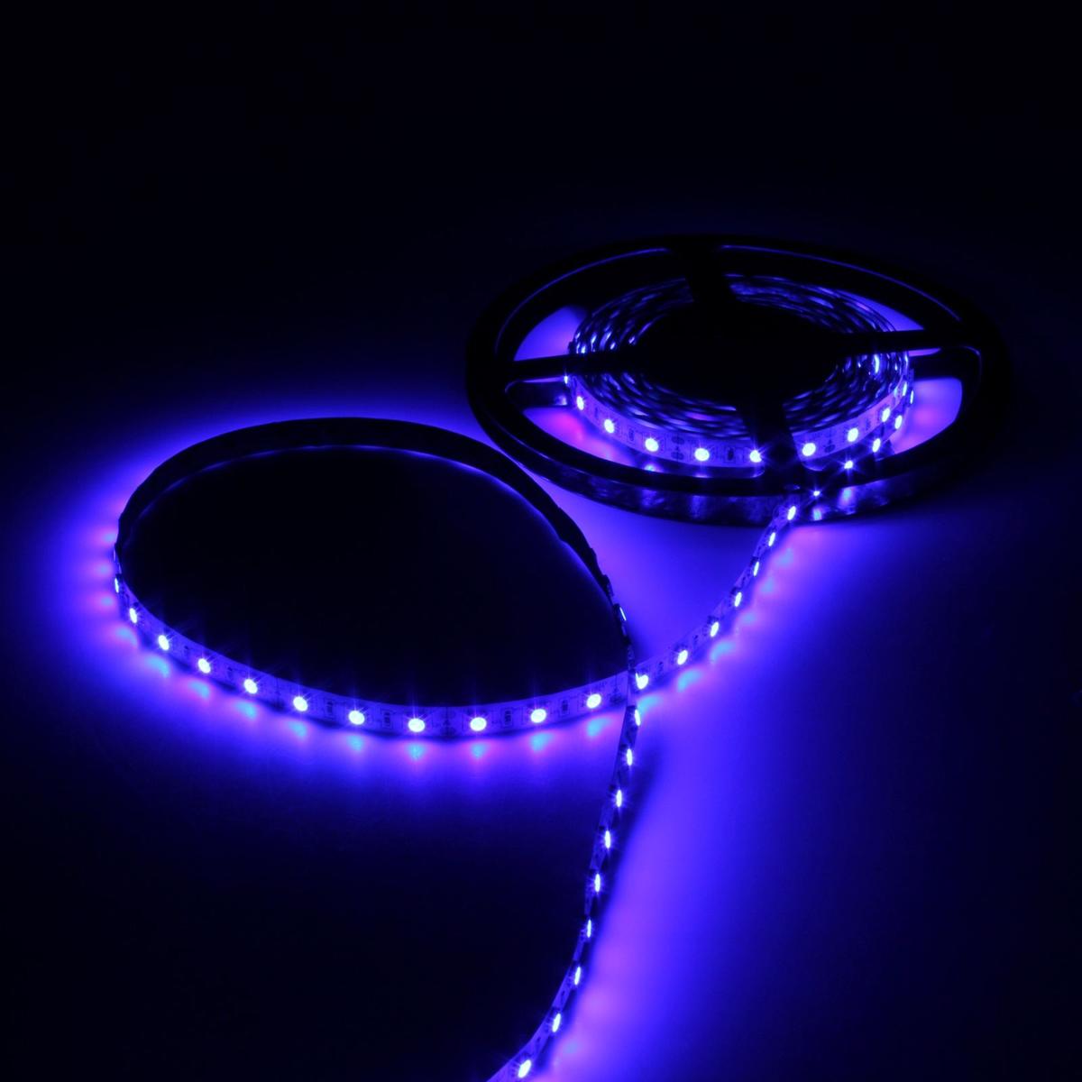Светодиодная лента Luazon, 12В, SMD5050, длина 5 м, IP33, 60 LED ламп, 14.4 Вт/м, 14-16 Лм/1 LED, DC, цвет: синий883941Светодиодные гирлянды, ленты и т.д — это отличный вариант для новогоднего оформления интерьера или фасада. С их помощью помещение любого размера можно превратить в праздничный зал, а внешние элементы зданий, украшенные ими, мгновенно станут напоминать очертания сказочного дворца. Такие украшения создают ауру предвкушения чуда. Деревья, фасады, витрины, окна и арки будто специально созданы, чтобы вы украсили их светящимися нитями.