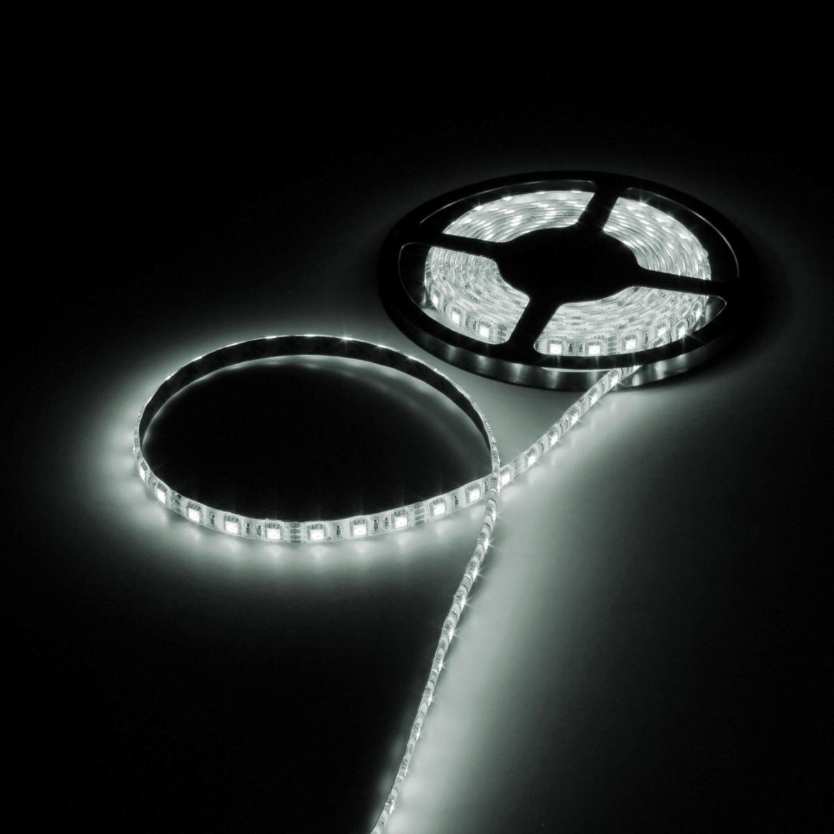 Светодиодная лента Luazon, 12В, SMD5050, длина 5 м, IP65, 60 LED ламп, 14.4 Вт/м, 14-16 Лм/1 LED, DC, цвет: белый883951Светодиодные гирлянды, ленты и т.д — это отличный вариант для новогоднего оформления интерьера или фасада. С их помощью помещение любого размера можно превратить в праздничный зал, а внешние элементы зданий, украшенные ими, мгновенно станут напоминать очертания сказочного дворца. Такие украшения создают ауру предвкушения чуда. Деревья, фасады, витрины, окна и арки будто специально созданы, чтобы вы украсили их светящимися нитями.