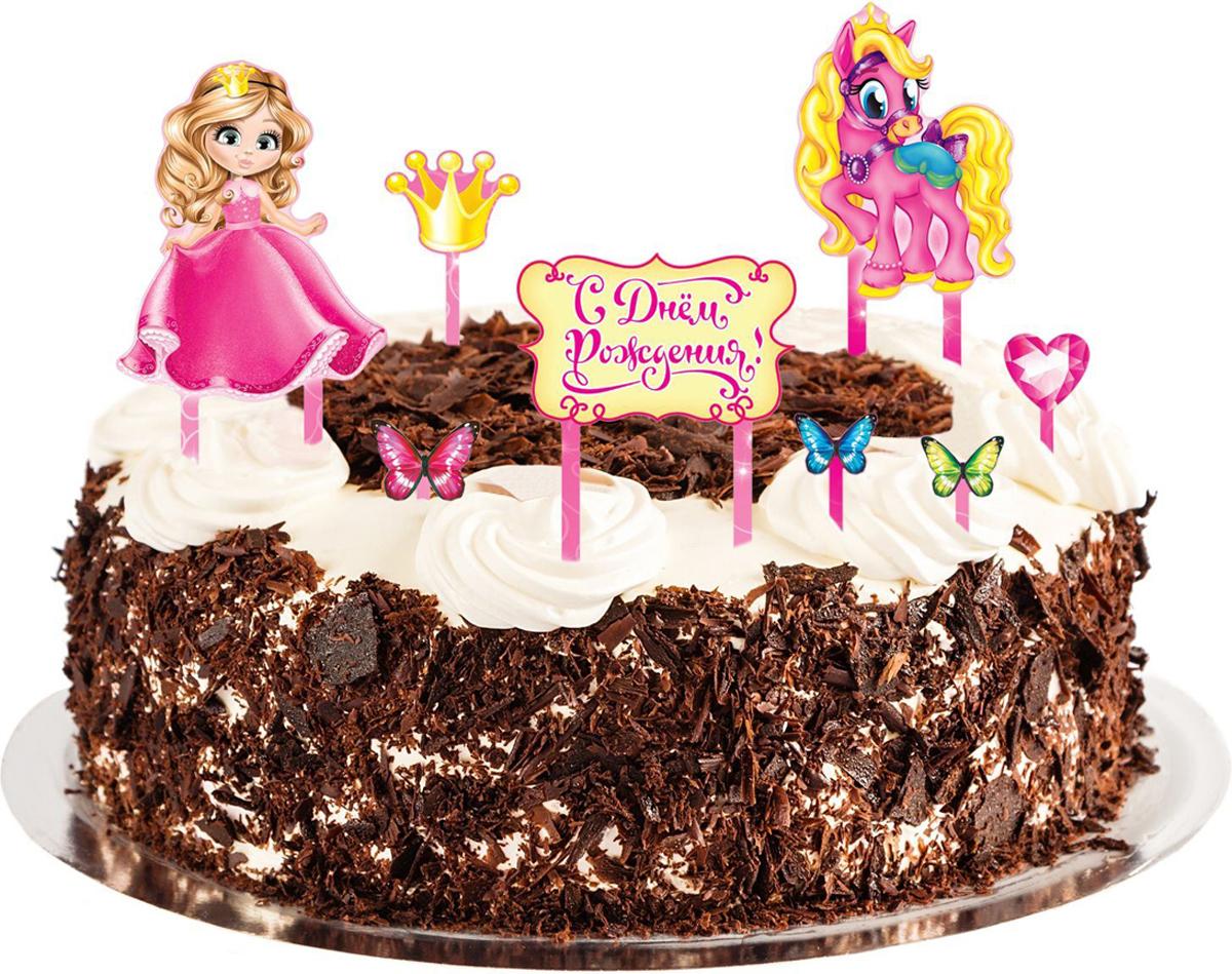 Страна Карнавалия Набор для украшения торта С днем рождения Принцесса 12831361283136Невозможно представить нашу жизнь без праздников! Мы всегда ждем их и предвкушаем, обдумываем, как проведем памятный день, тщательно выбираем подарки и аксессуары, ведь именно они создают и поддерживают торжественный настрой Набор для украшения торта — это отличный выбор, который привнесет атмосферу праздника в ваш дом!